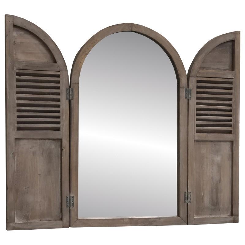 Miroir fenêtre volet persienne trumeau 89x108