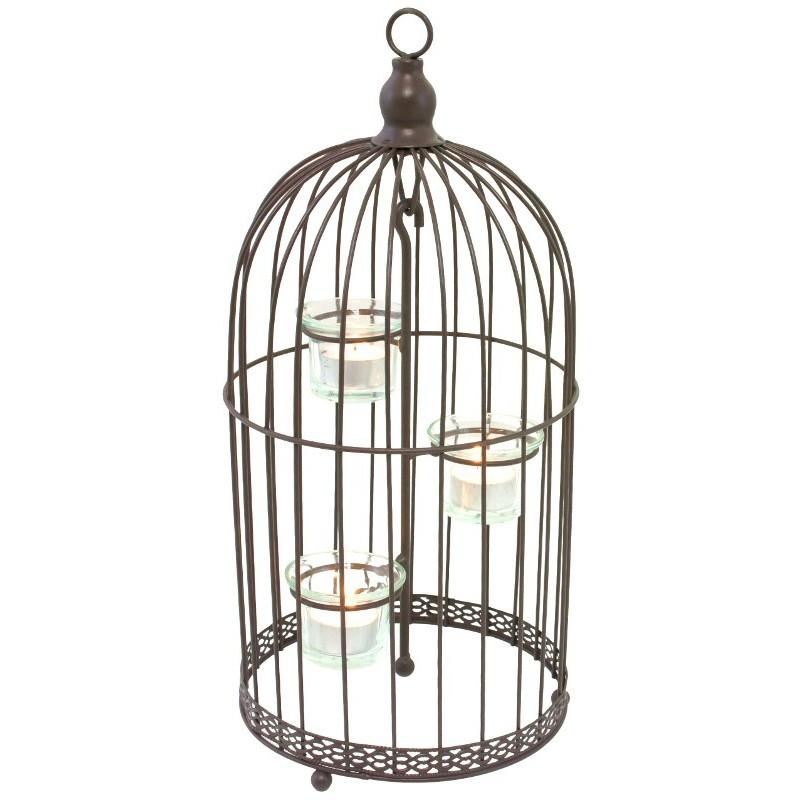 Bougeoir en forme de cage D19