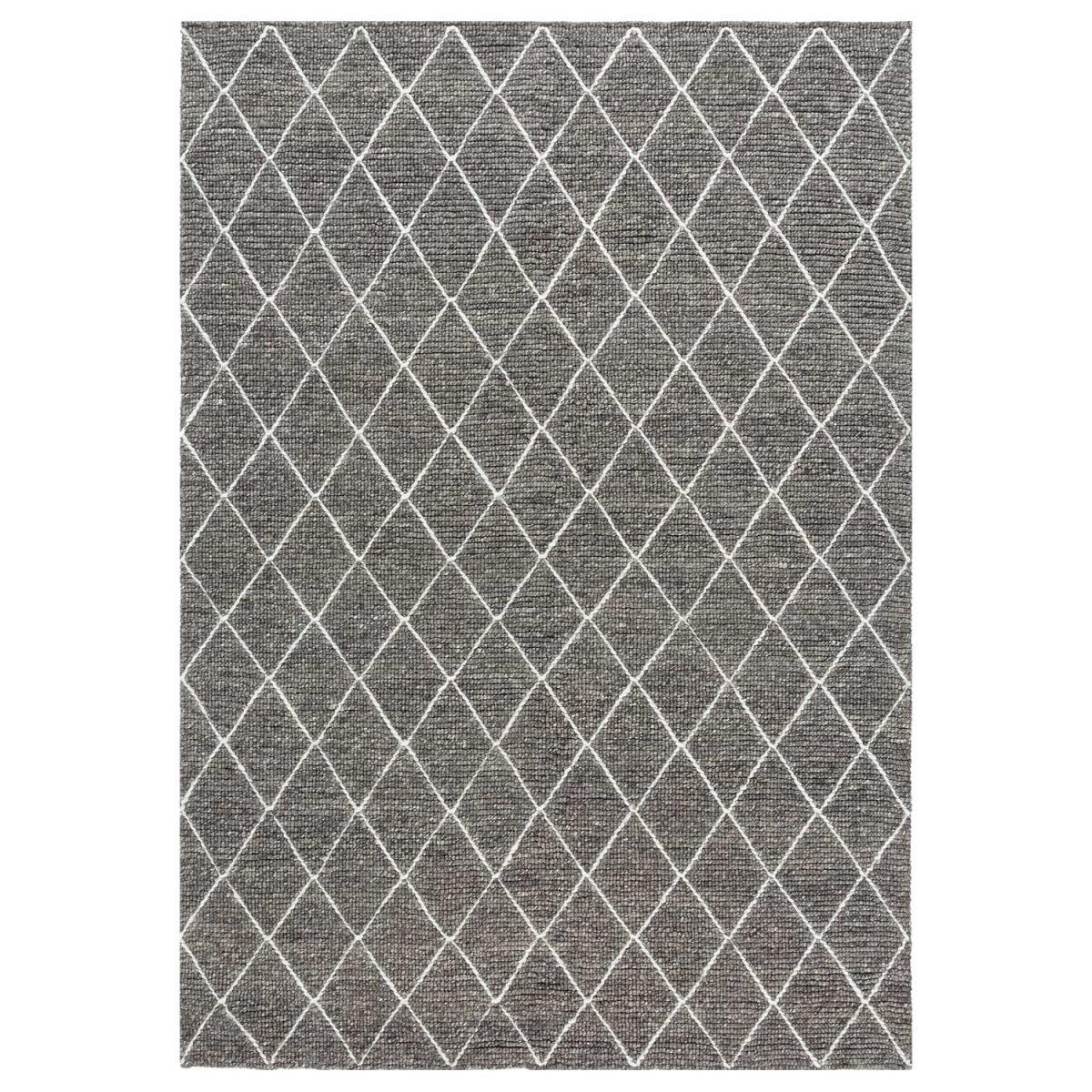 Tapis design en laine gris 140x200