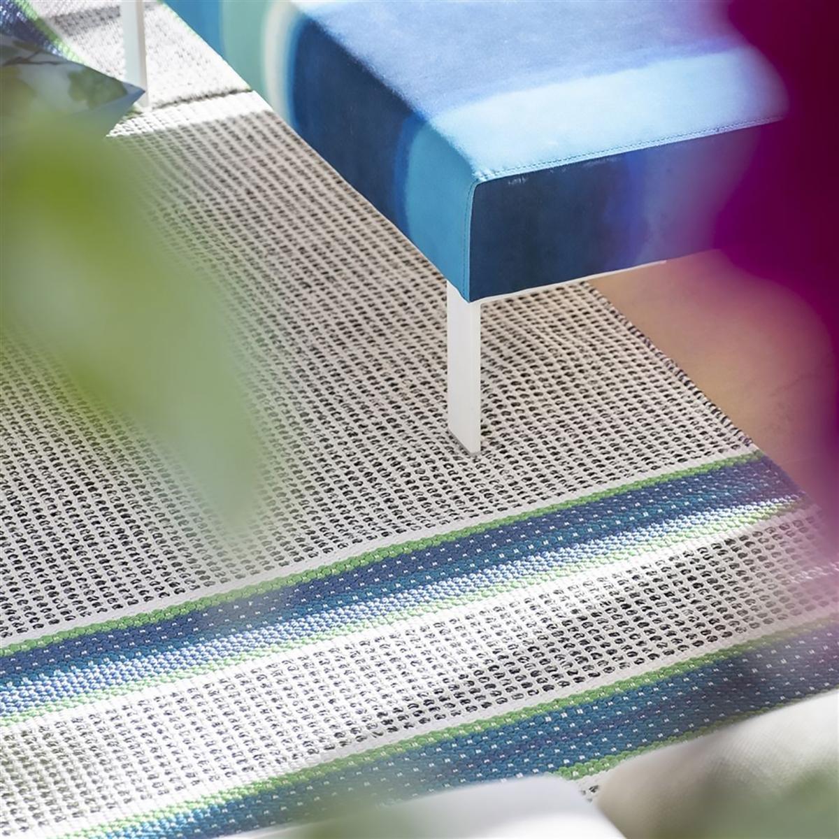 Tapis design et moderne en polyester bleu 250x350