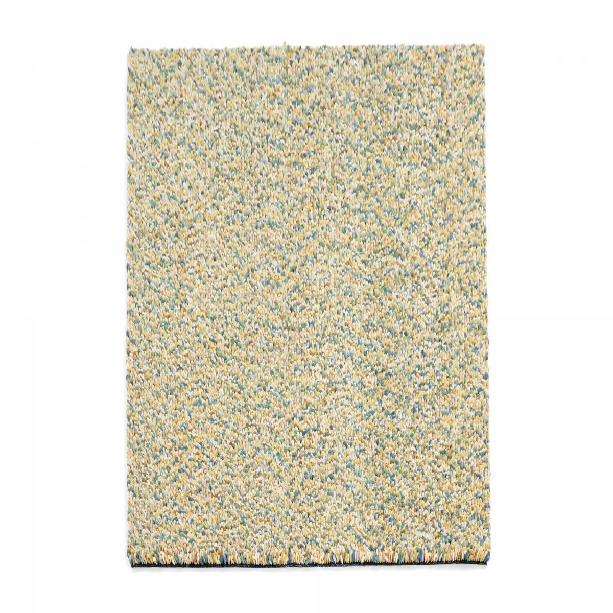 Tapis shaggy poils long en laine vert 140x200