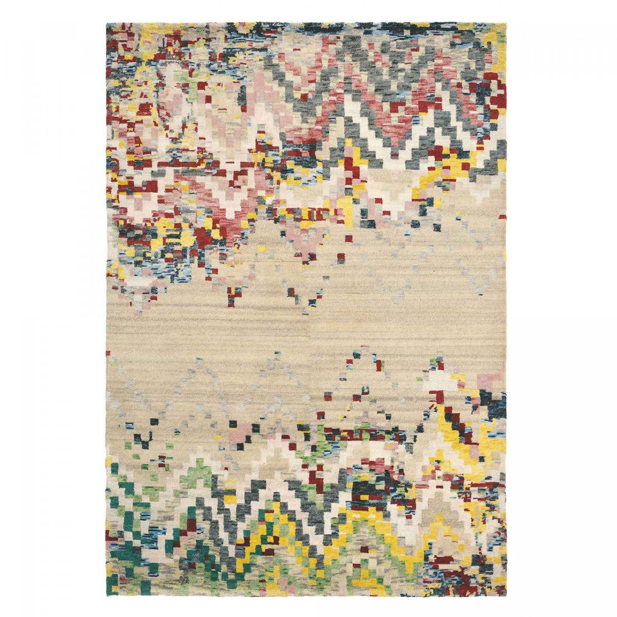 Tapis design en laine beige 140x200