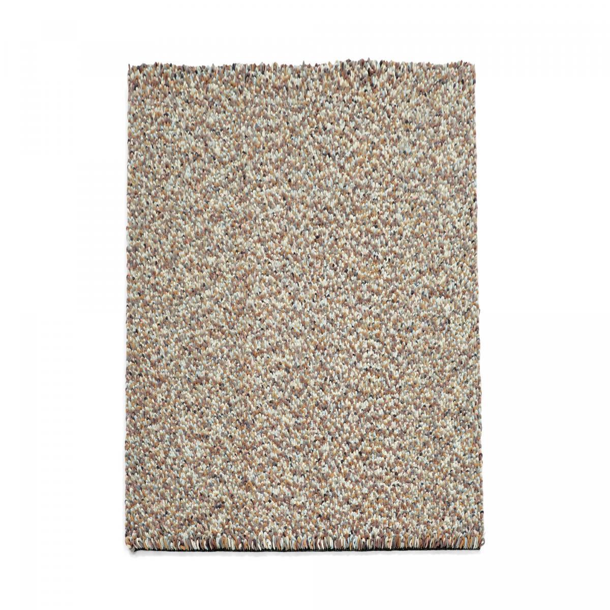 Tapis shaggy poils long en laine gris 140x200