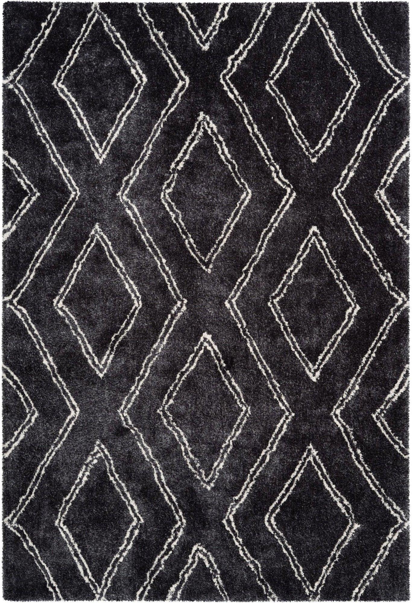 Tapis en polyester anthracite 120x170