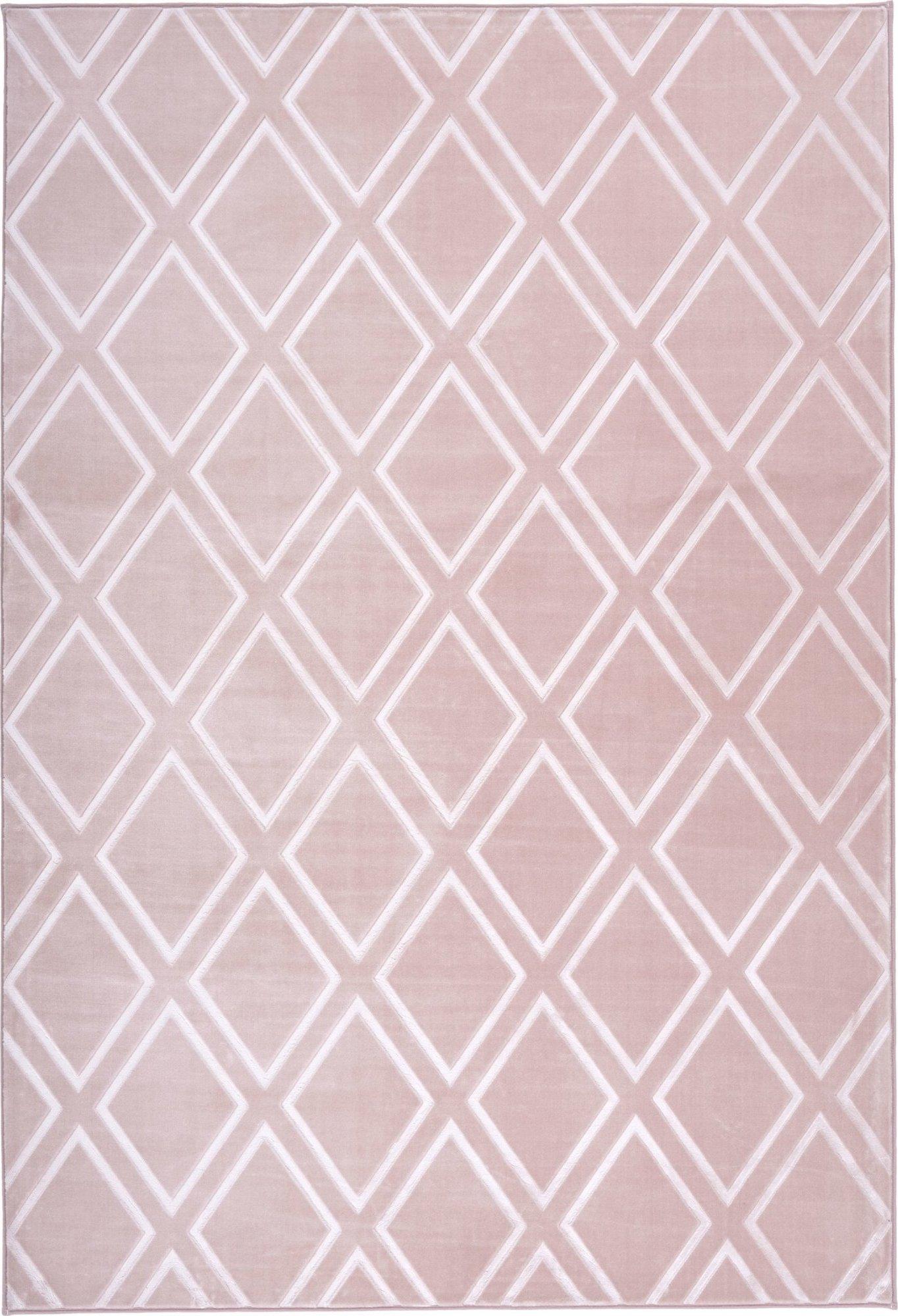 Tapis en polyester rose 80x300