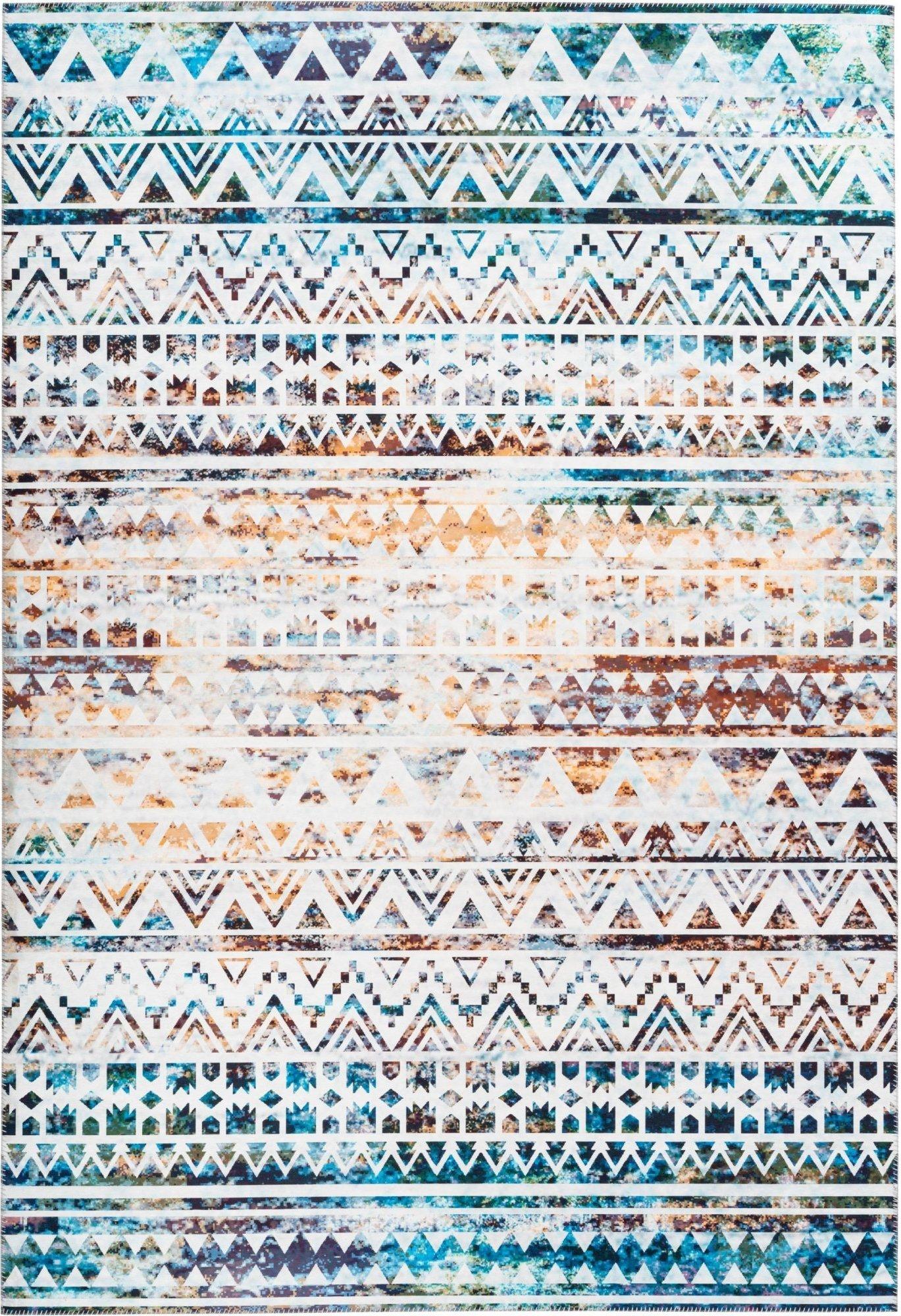Tapis en polyester multicolore 80x150