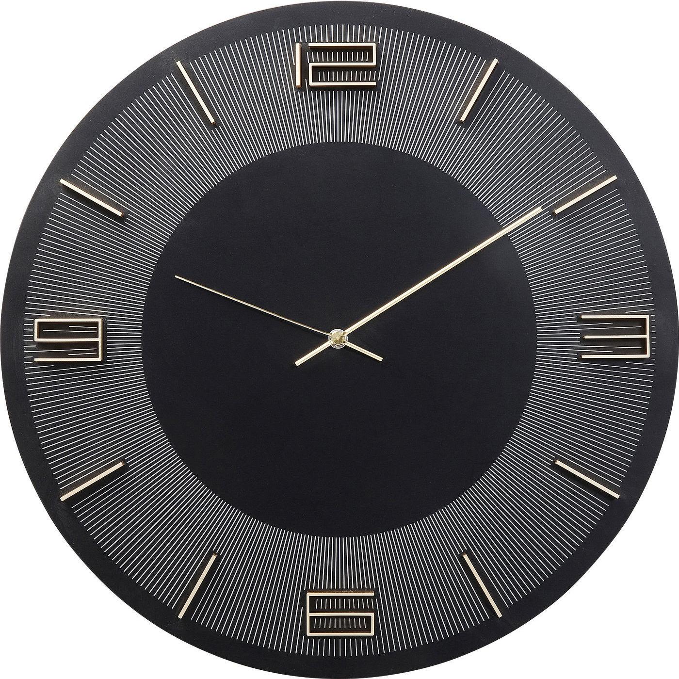 Horloge noire et dorée D49