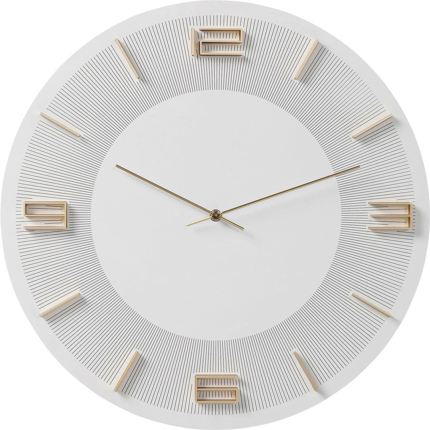 Horloge blanche et dorée D49