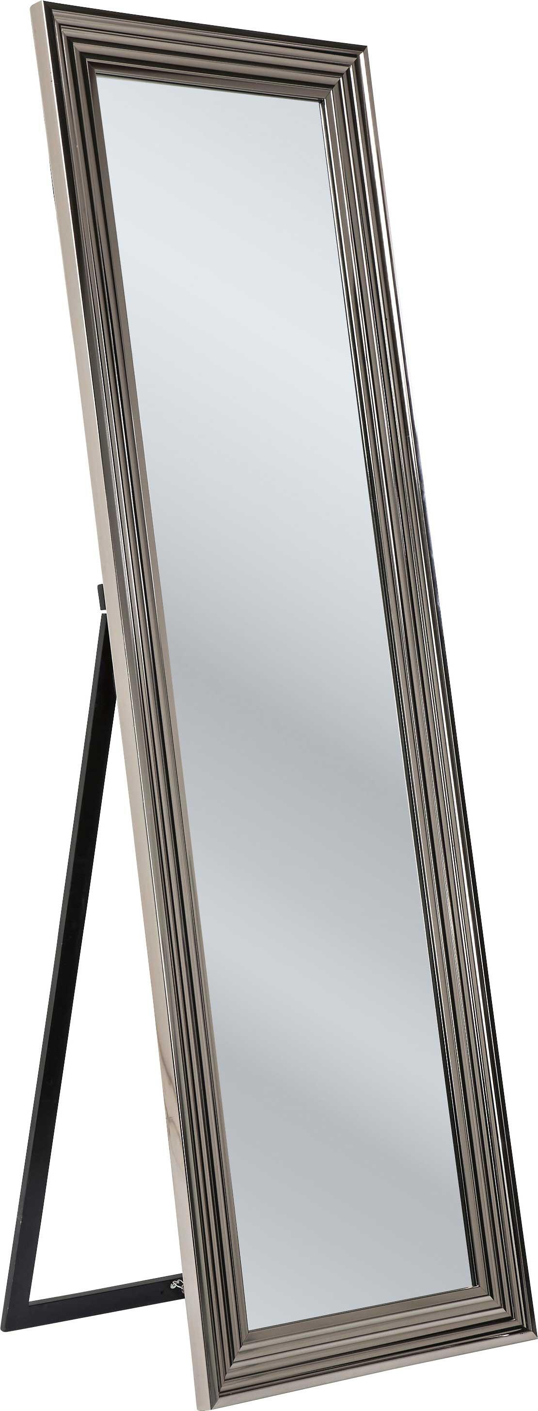 Miroir sur pied en métal argenté 180x55