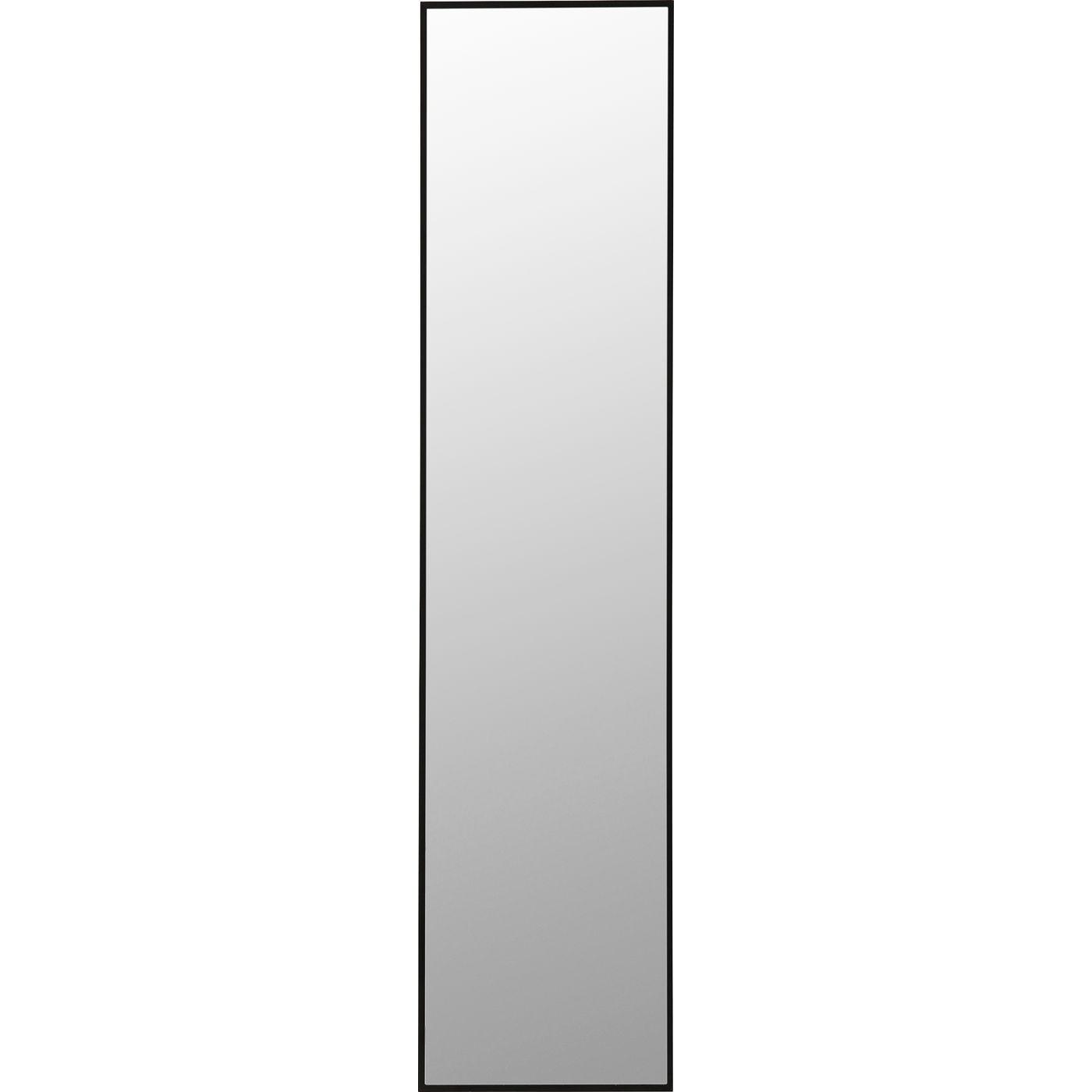 Miroir en métal noir 180x30