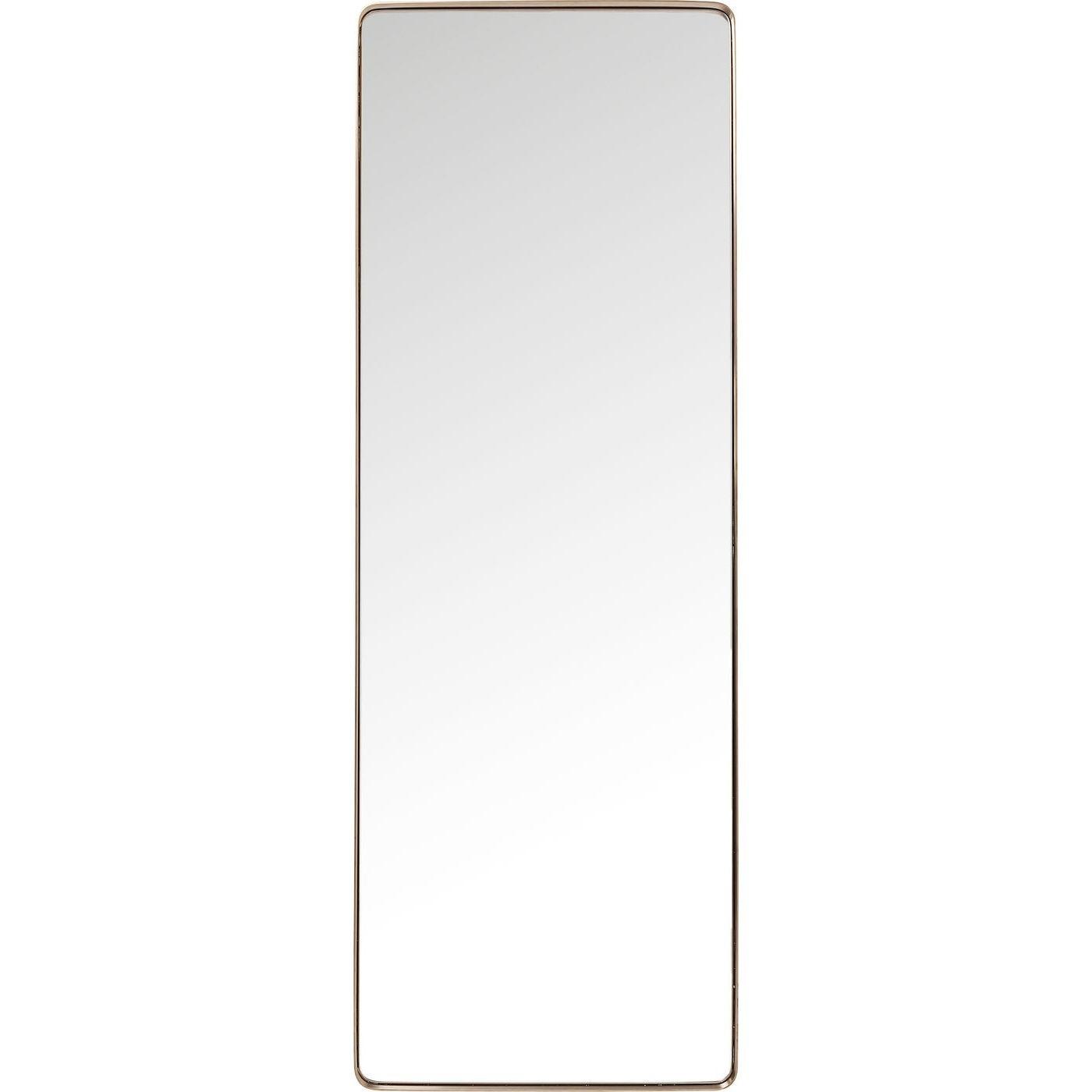 Miroir bords arrondis en métal cuivré 200x70
