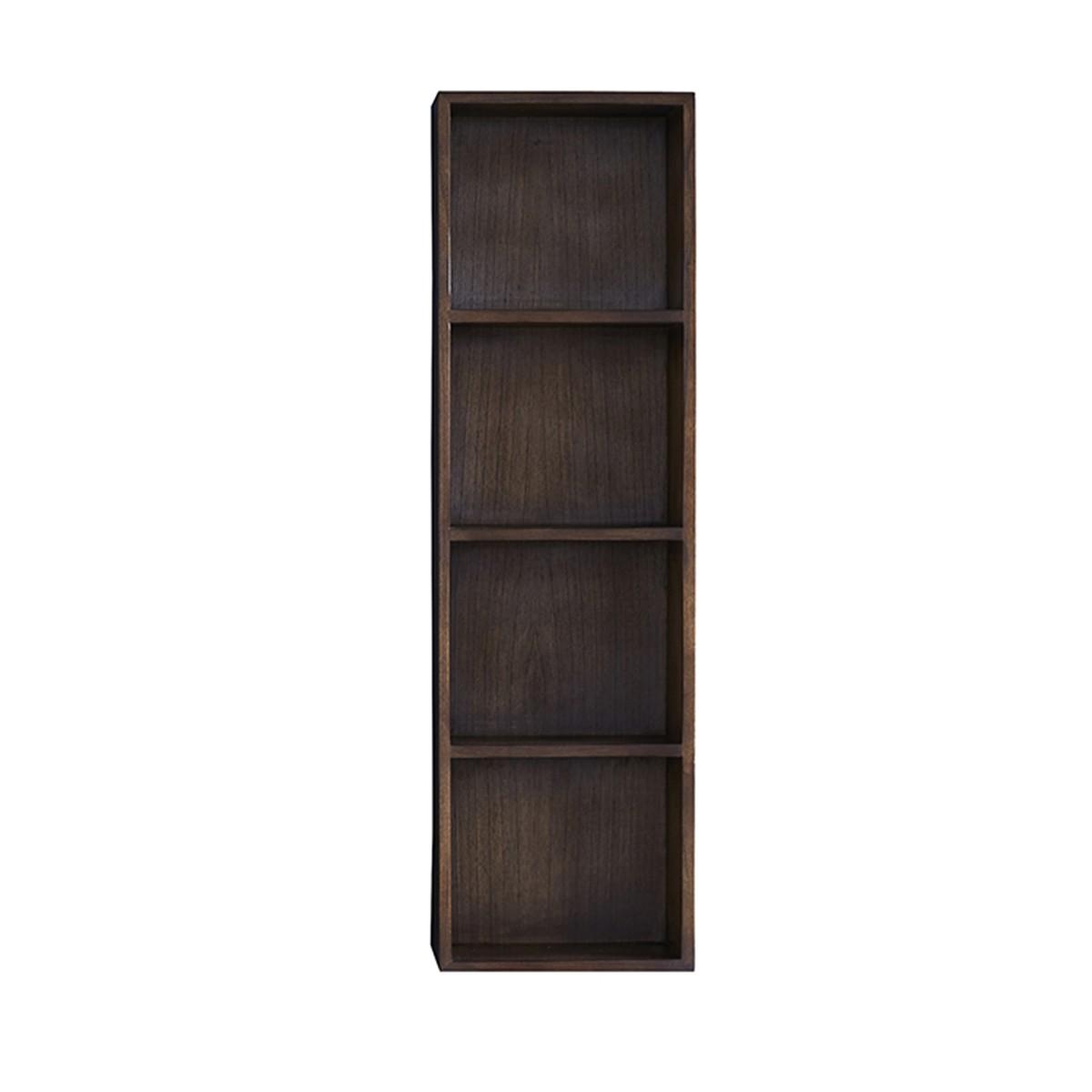 Colonne de salle de bain suspendue en bois de mindy 3 niches