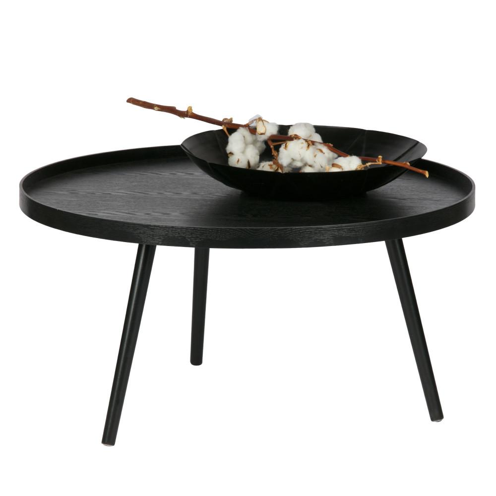 Table d'appoint ronde bois XL noir