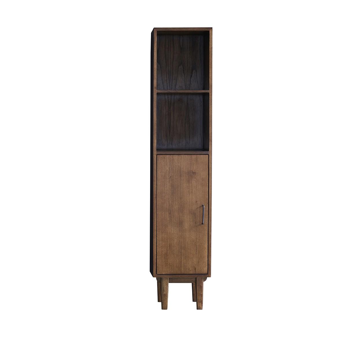 Colonne de salle de bain 1 étagère et 2 niches