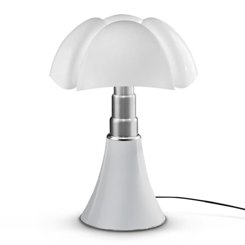 Lampe Dimmer LED pied télescopique blanc H66-86cm
