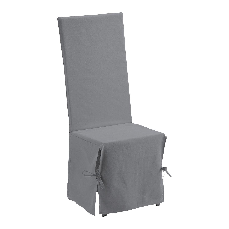 Housse de Chaise en coton gris 35 x 35 x 116