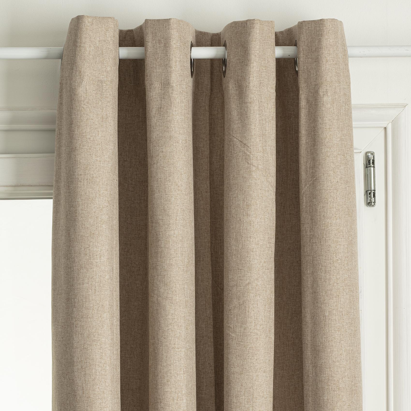 Rideau occultant total avec couche d'enduit polyester lin 260x140