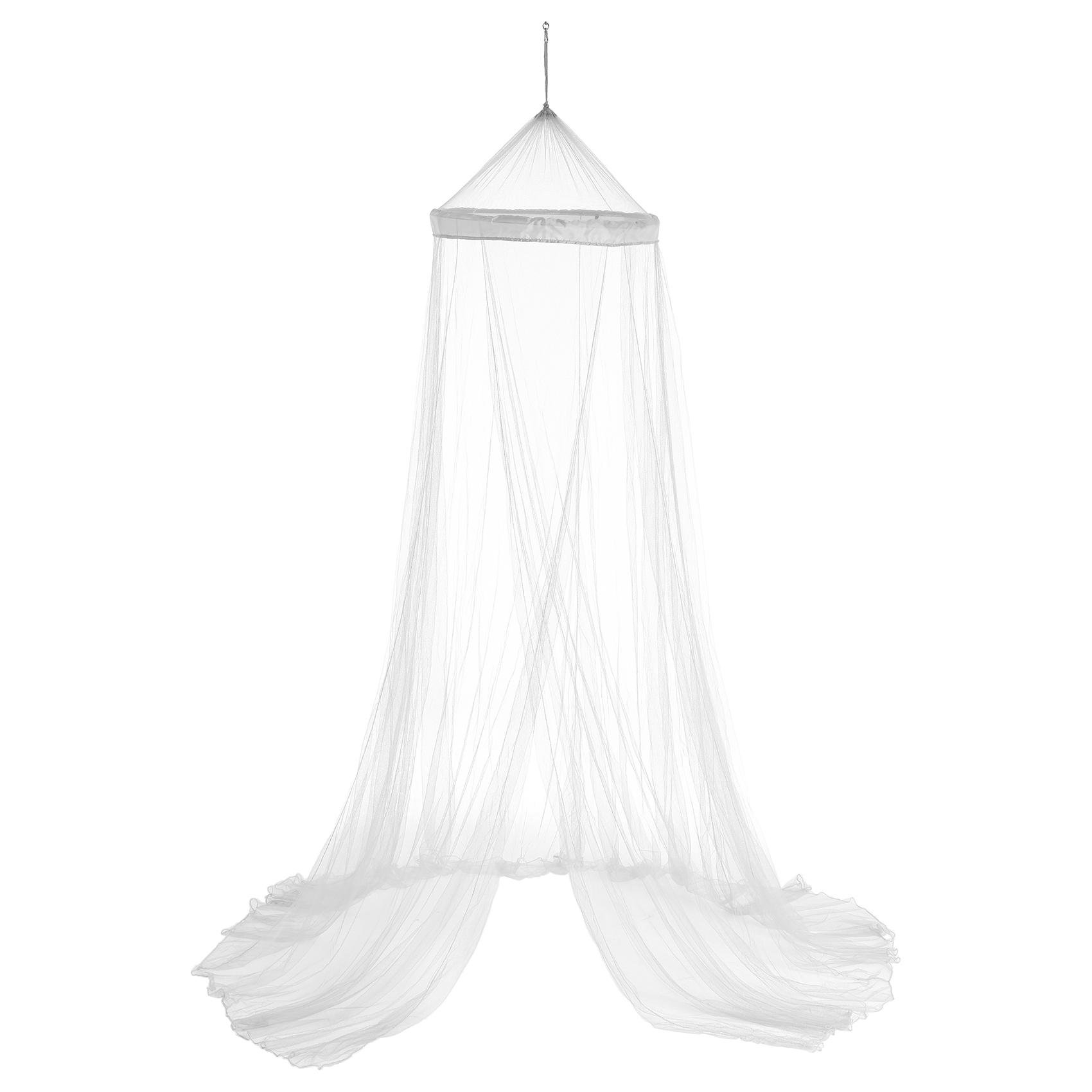 Ciel de lit moustiquaire polyester blanc 250x60