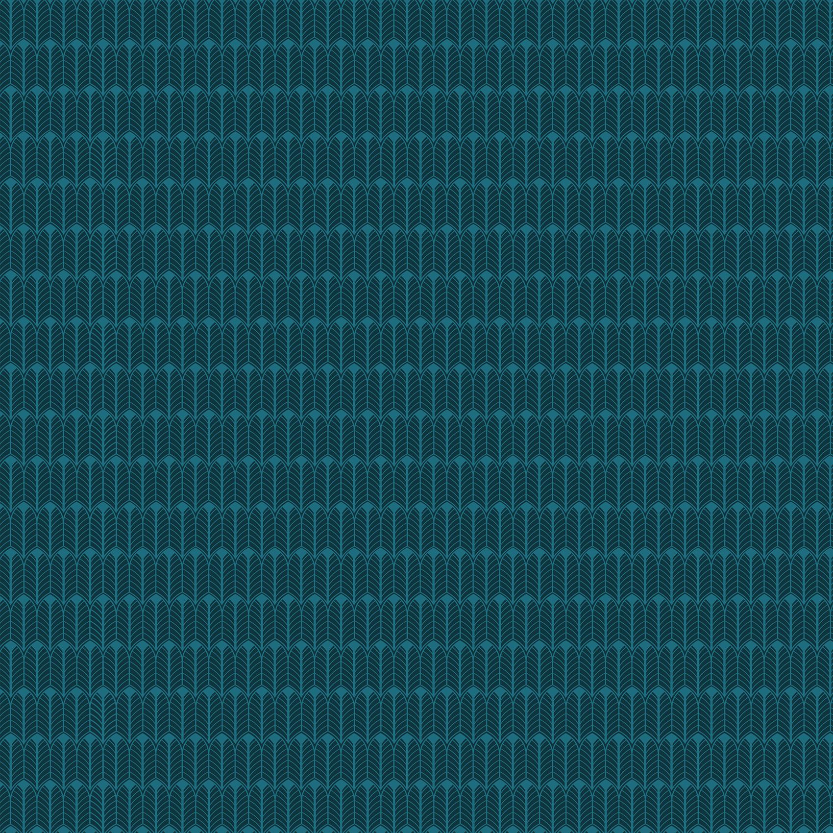 Parure de lit imprimé végétal coton bleu 220x240