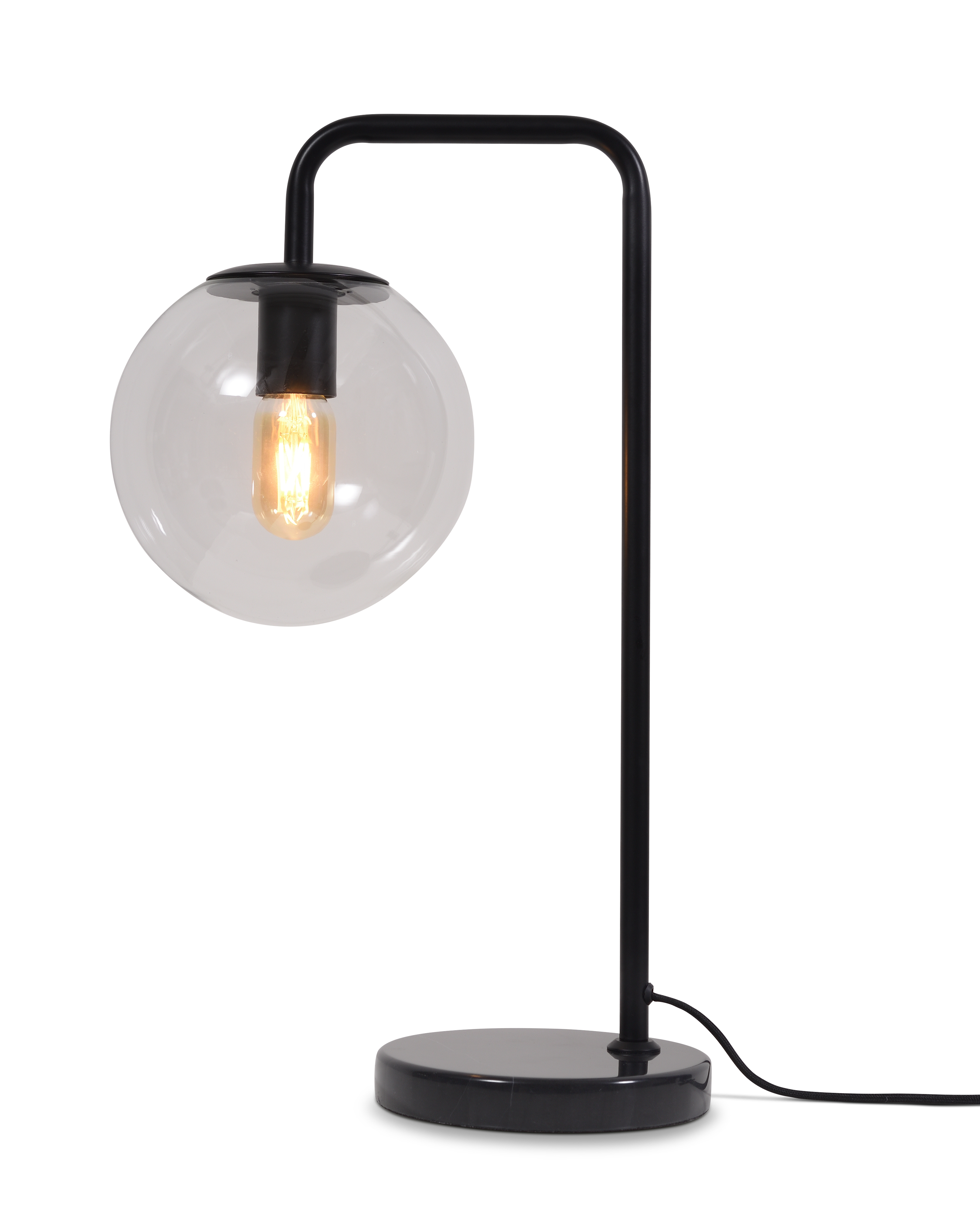 Lampe de table noire H53cm