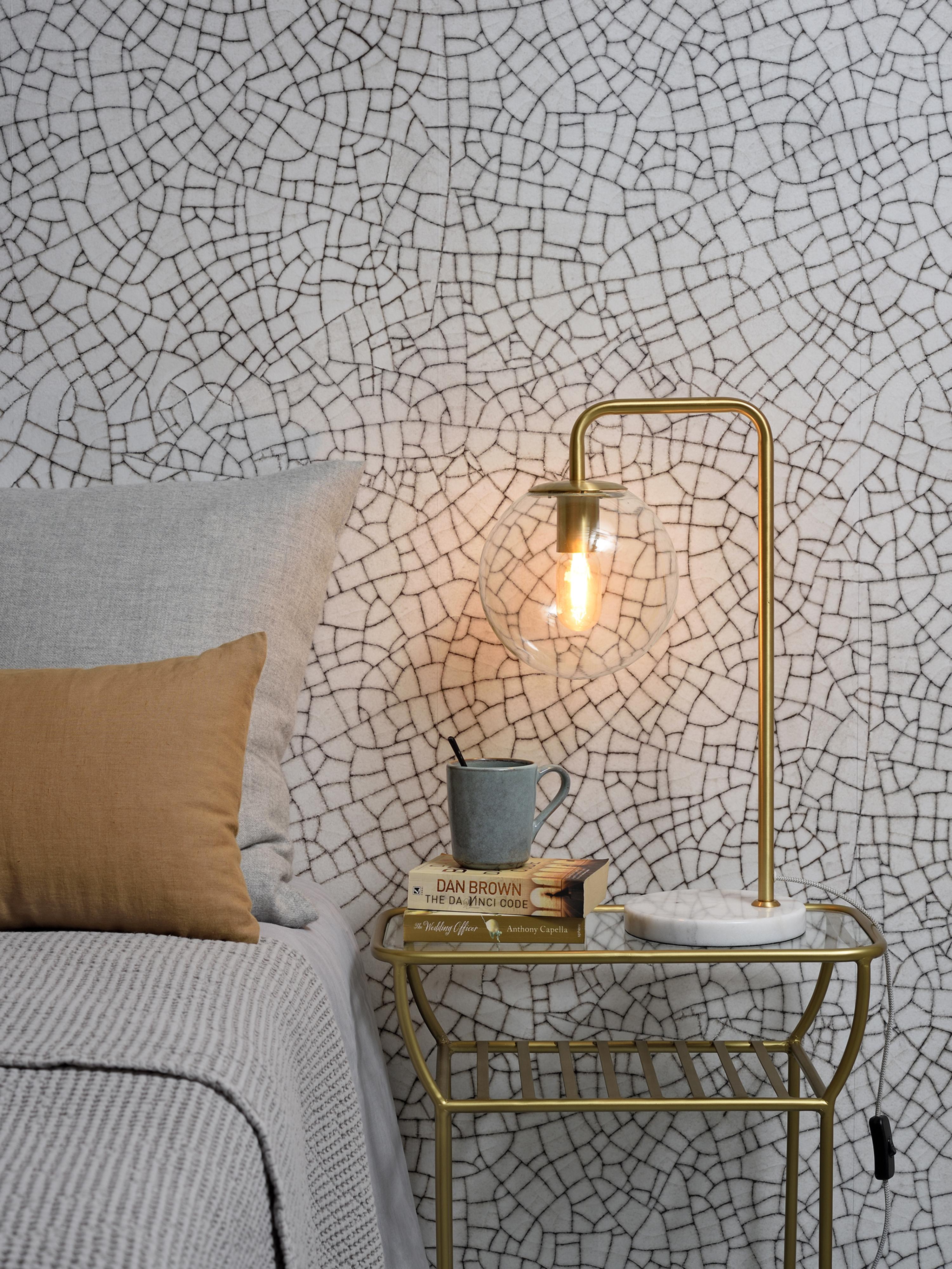 Lampe de table dorée H53cm