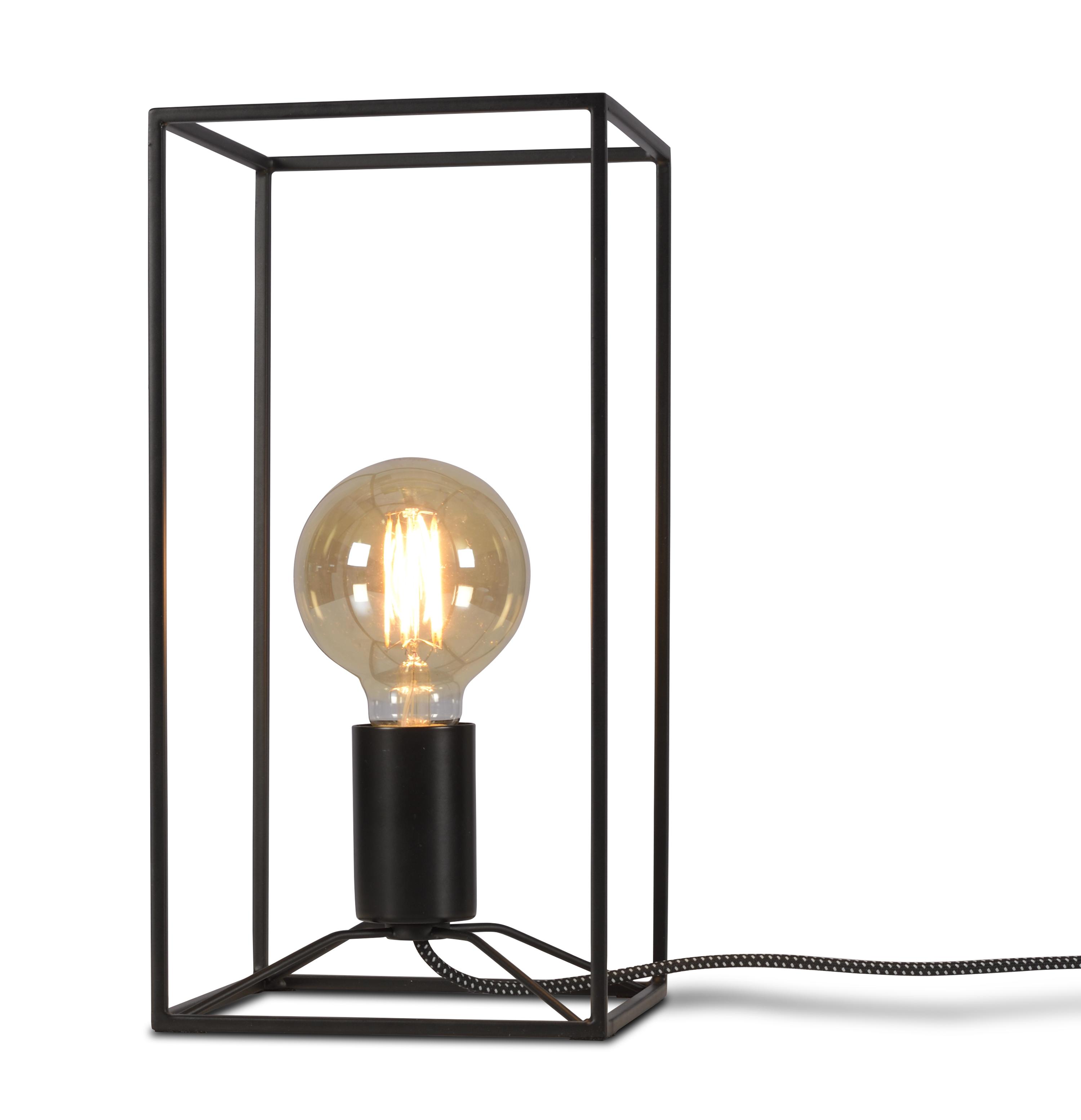 Lampe table noire H30cm