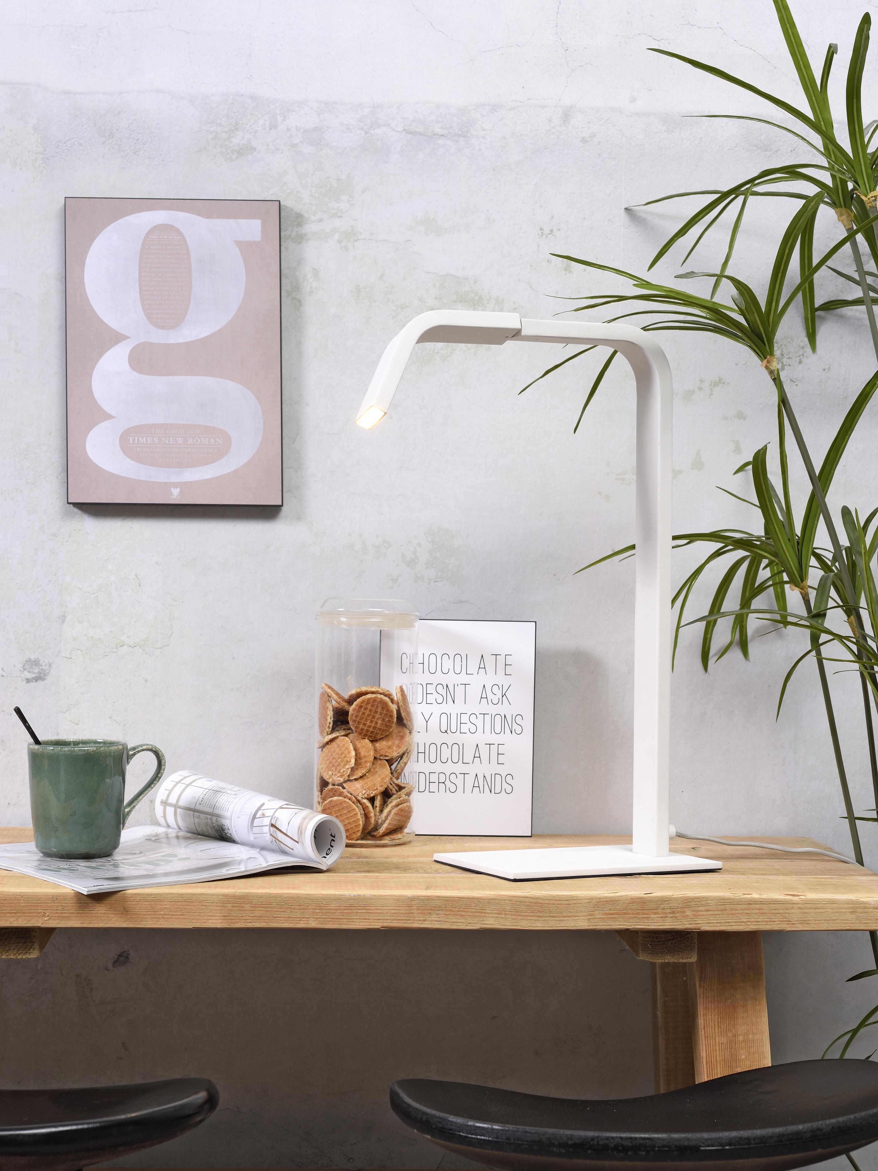 Lampa de table blanche H48cm