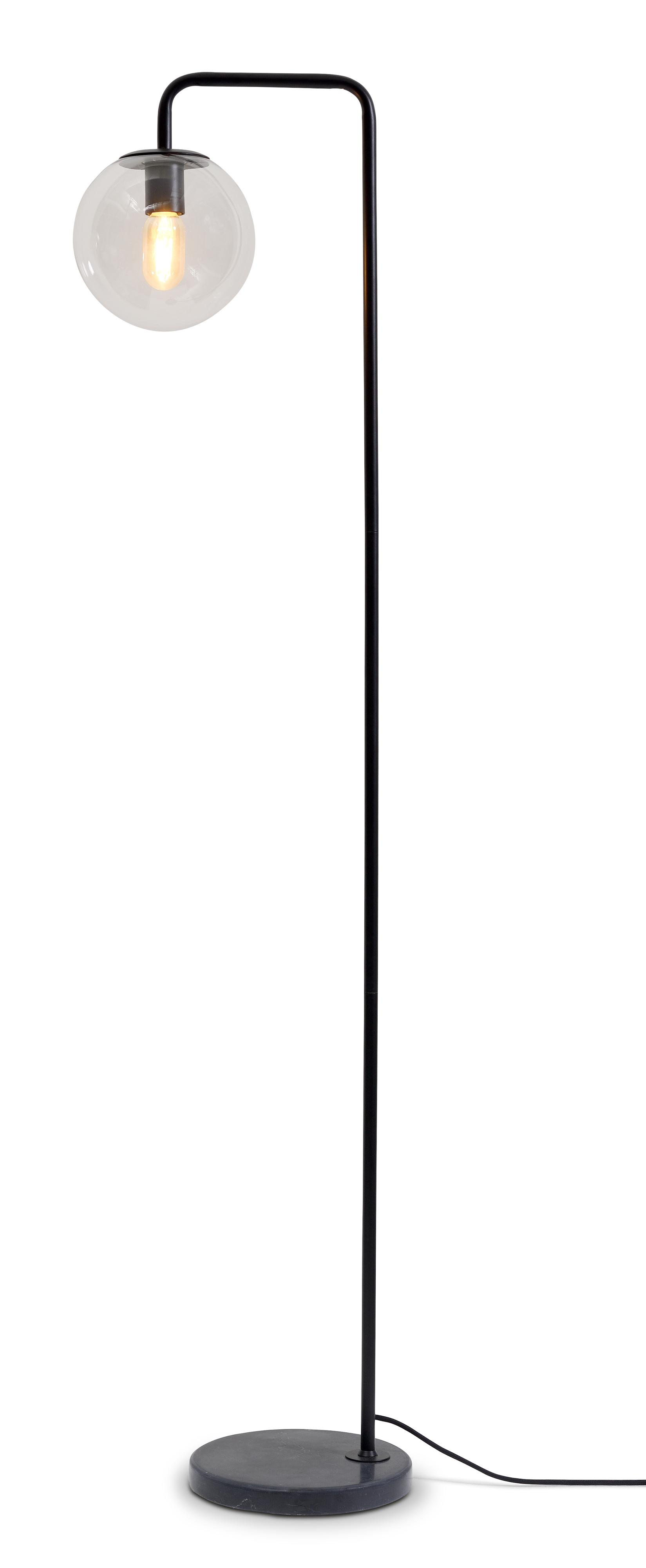 Lampadaire noir H156cm