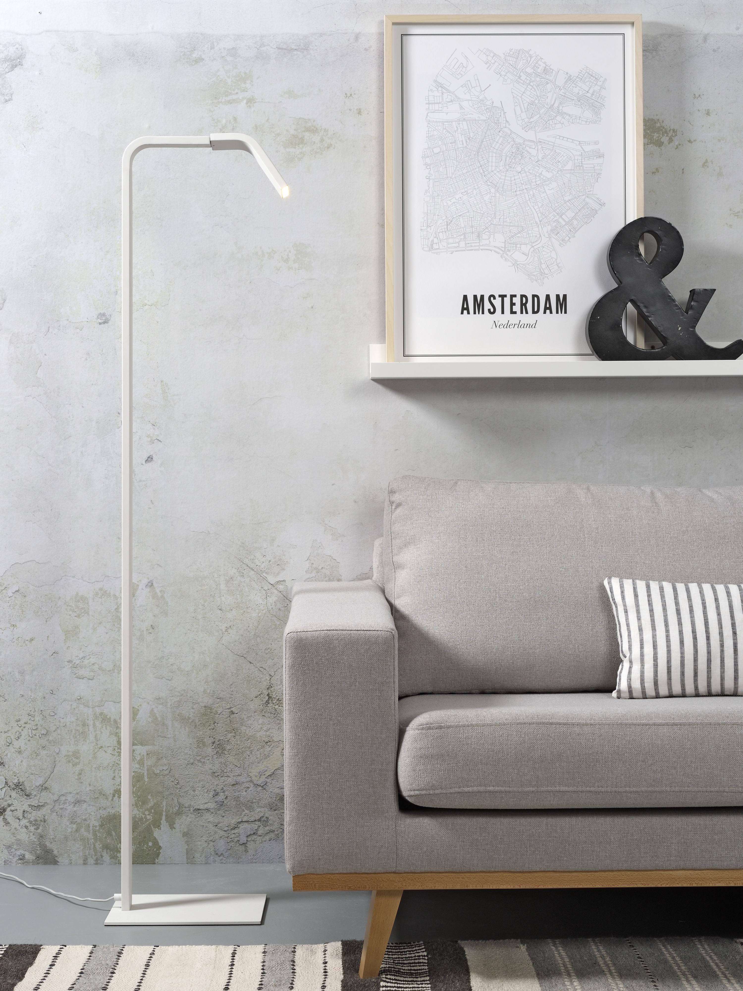 Lampadaire blanc H142cm