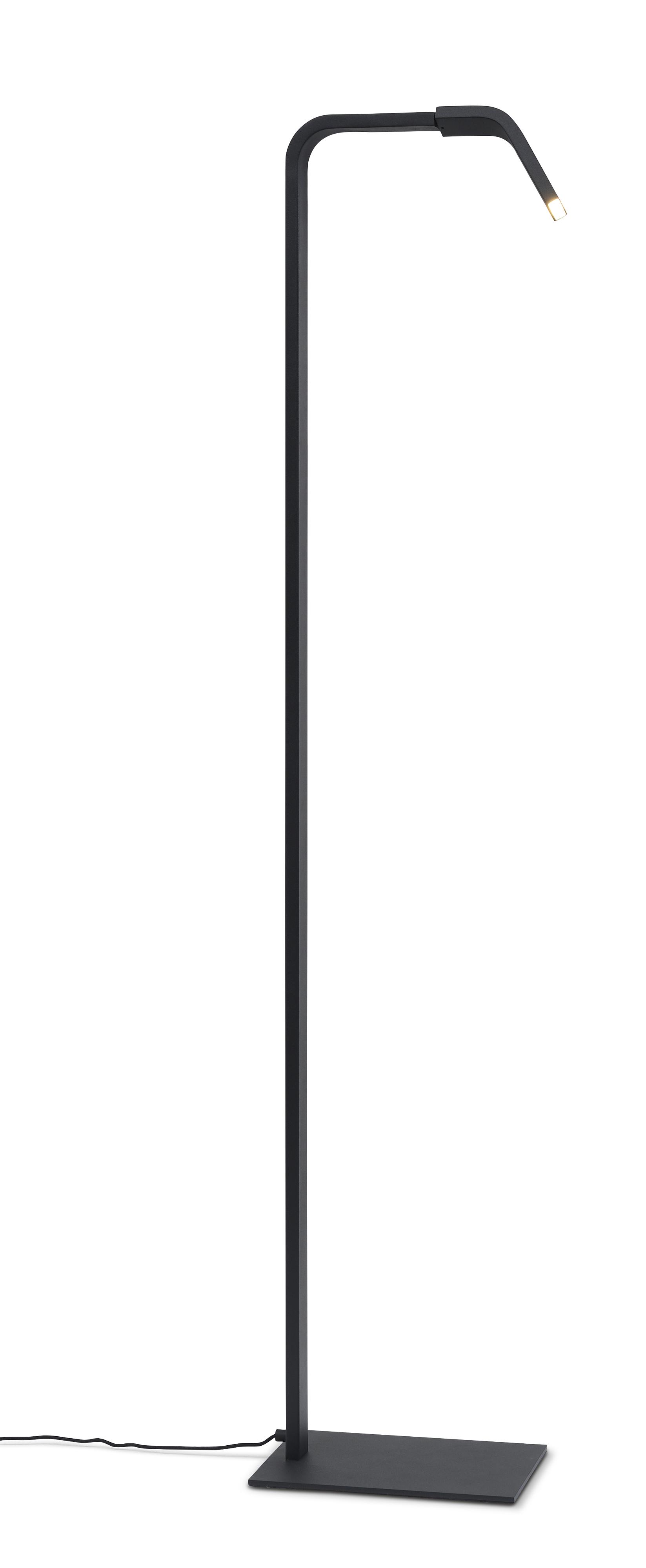 Lampadaire noir H142cm