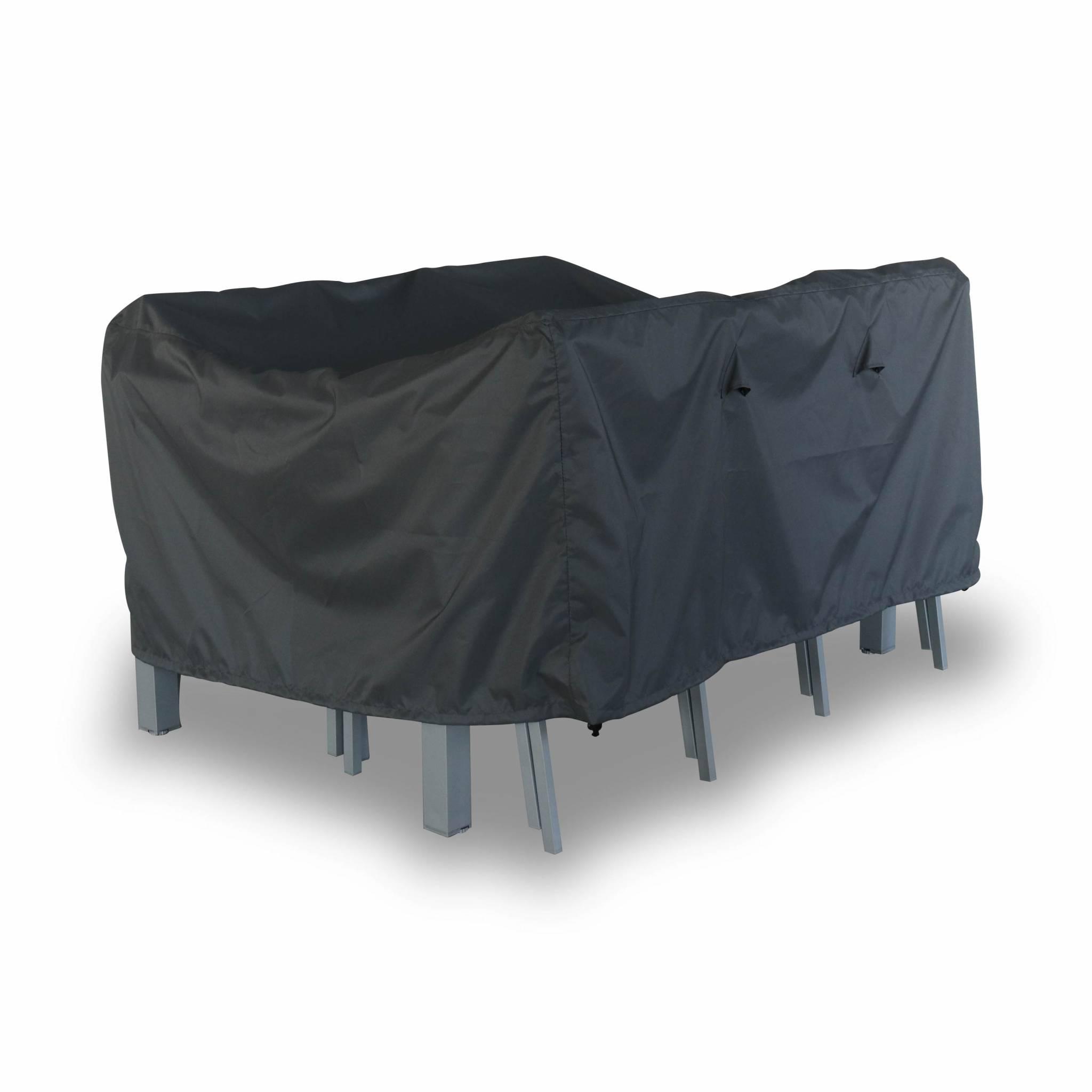 Housse de protection 150x125cm gris foncé polyester pour tables