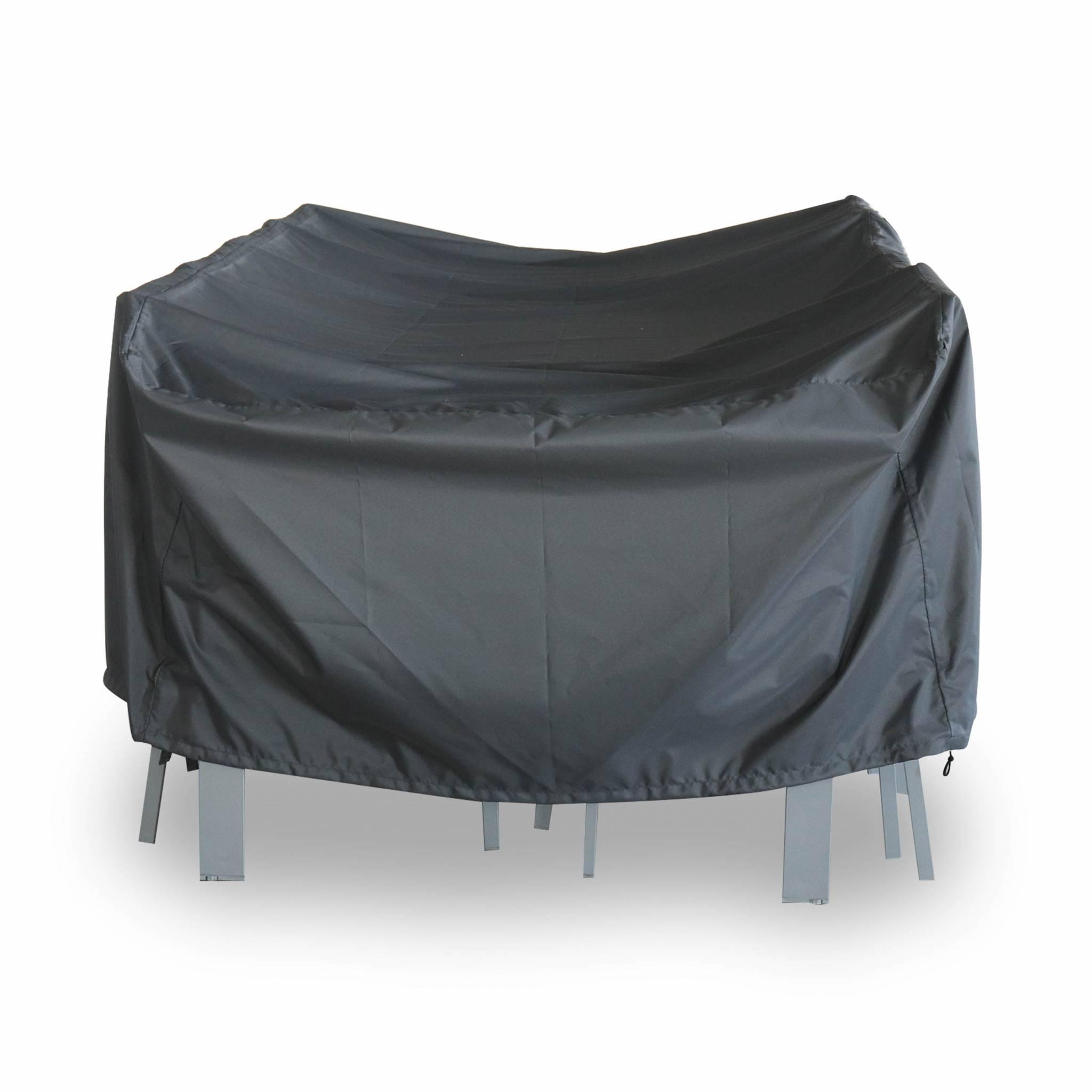 Housse de protection 235x135cm gris foncé polyester pour tables