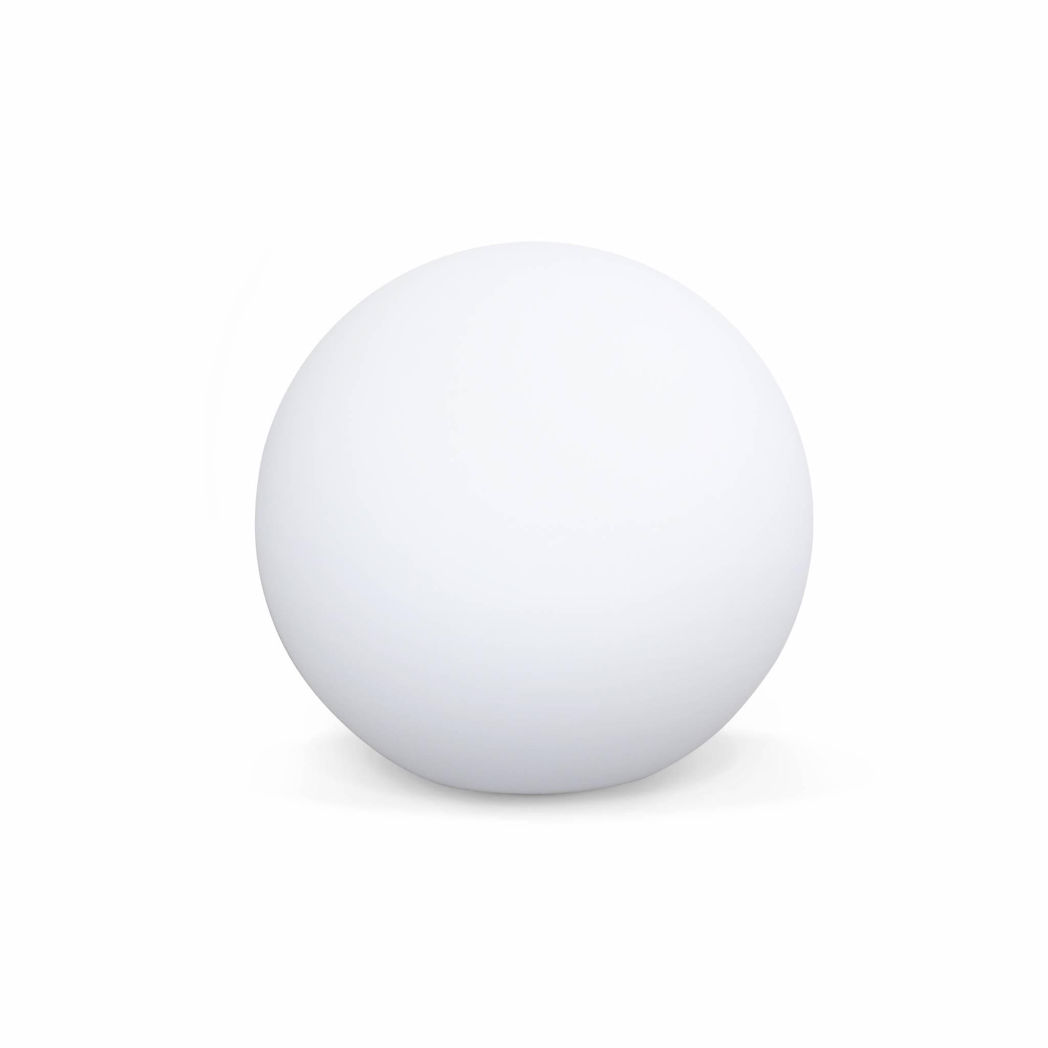 Boule led 30cm – sphère décorative lumineuse D30cm blanc chaud