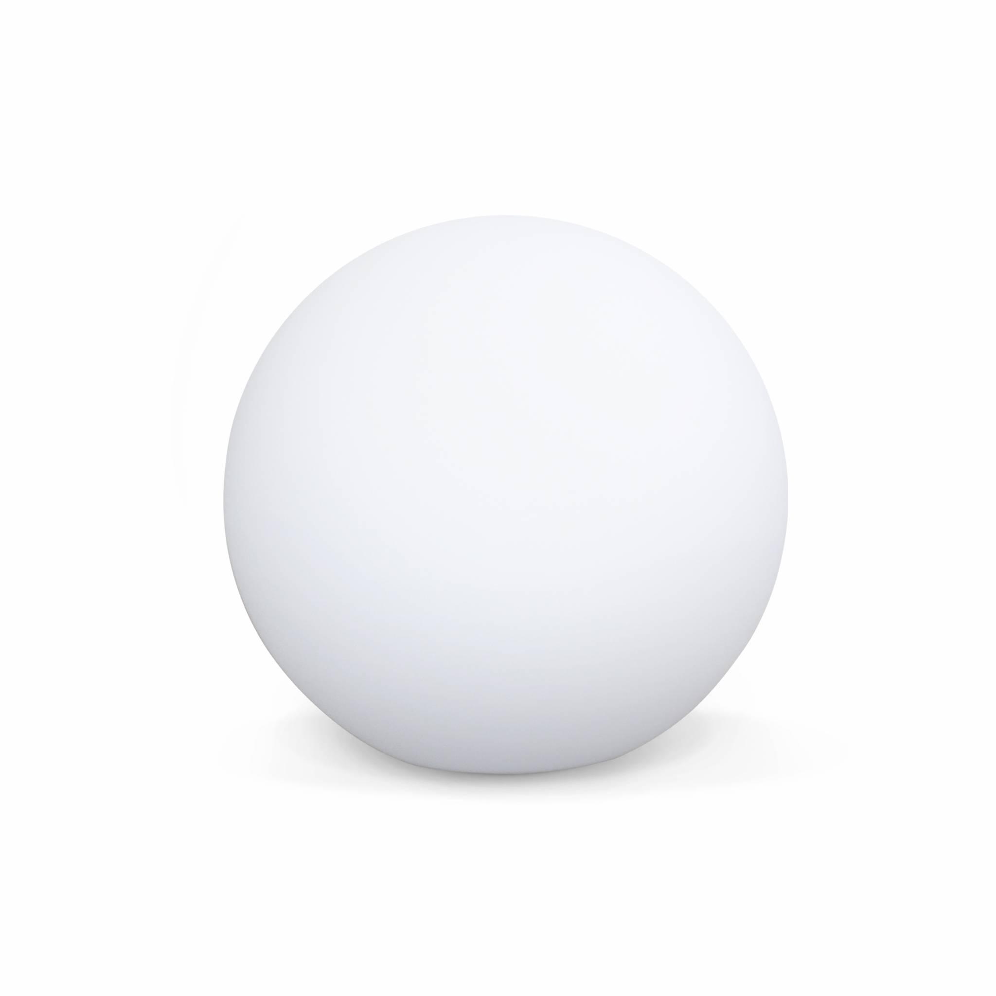Boule led 40cm – sphère décorative lumineuse D40cm blanc chaud