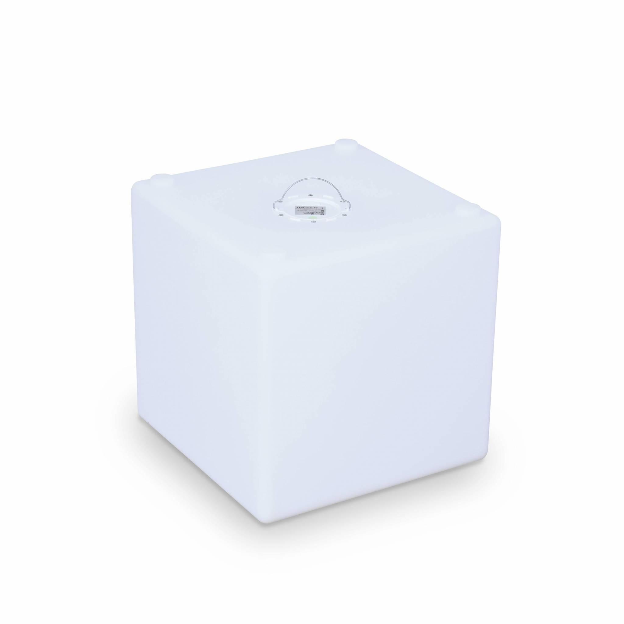 Cube led 40cm – cube décoratif lumineux 40x40cm blanc chaud