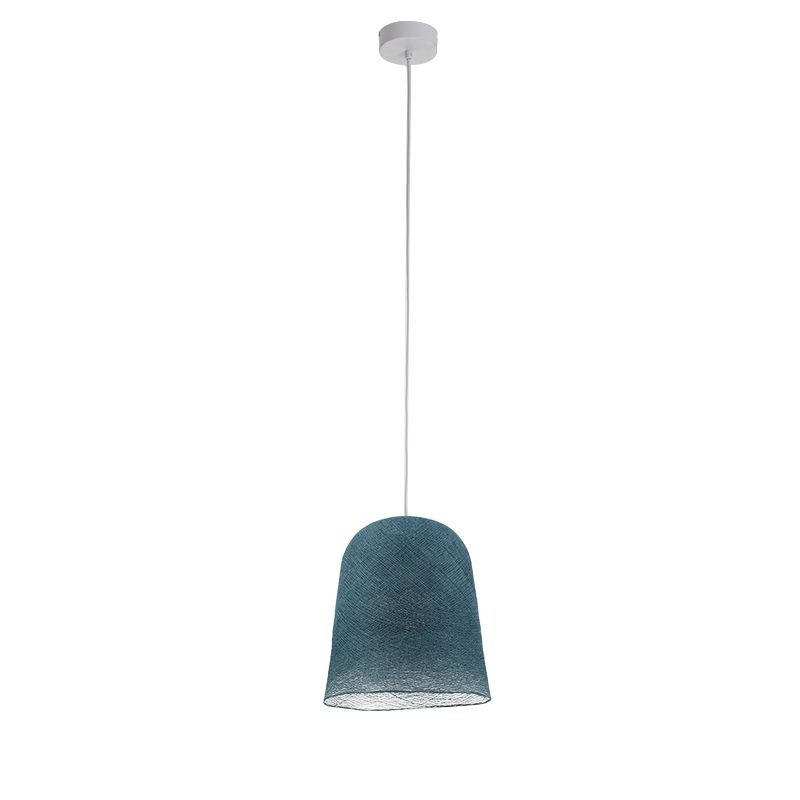 Suspension simple bleu canard