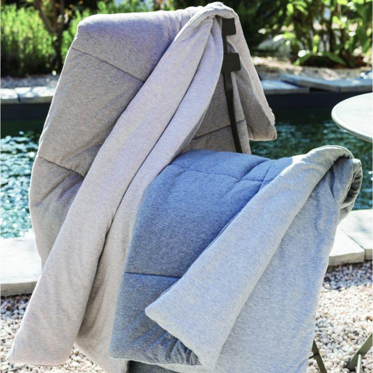 Edredon en 100% coton gris 140x160