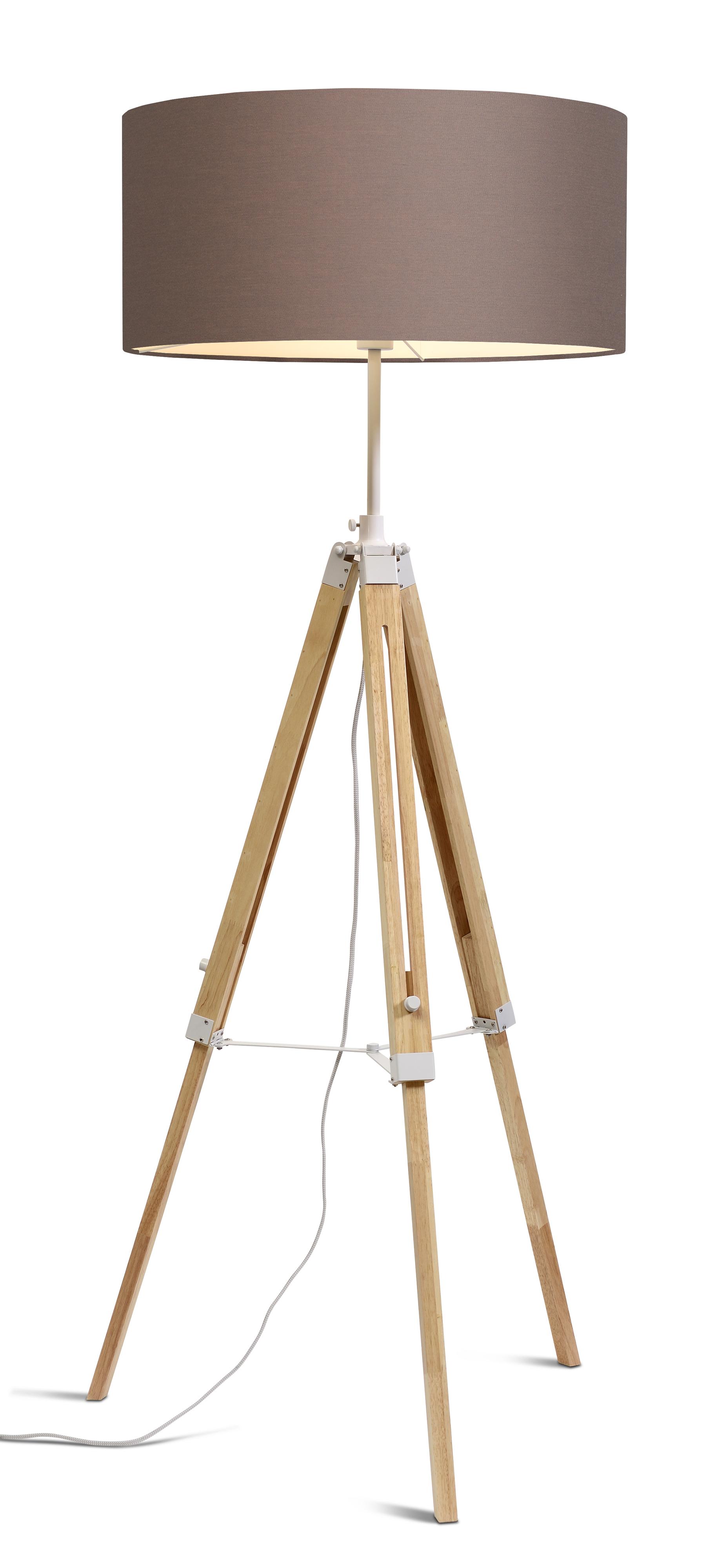 Lampadaire trépieds et abat-jour H165cm
