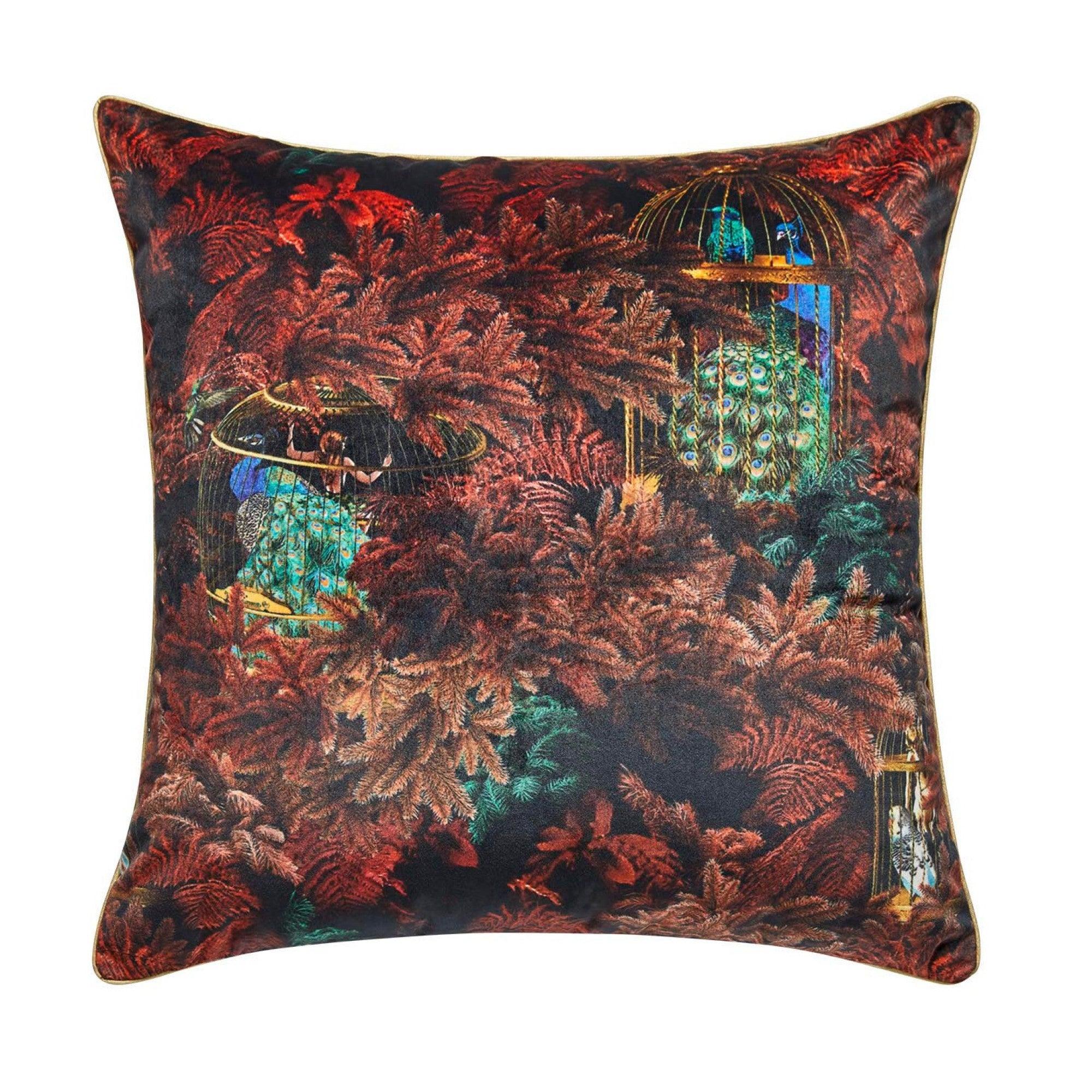 Housse de coussin 50x50 cm Noir et rouge