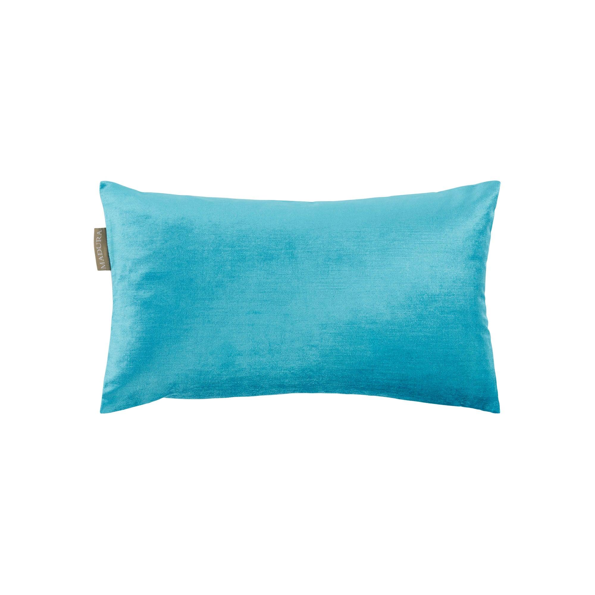Housse de coussin 28x47 cm Bleu et blanc