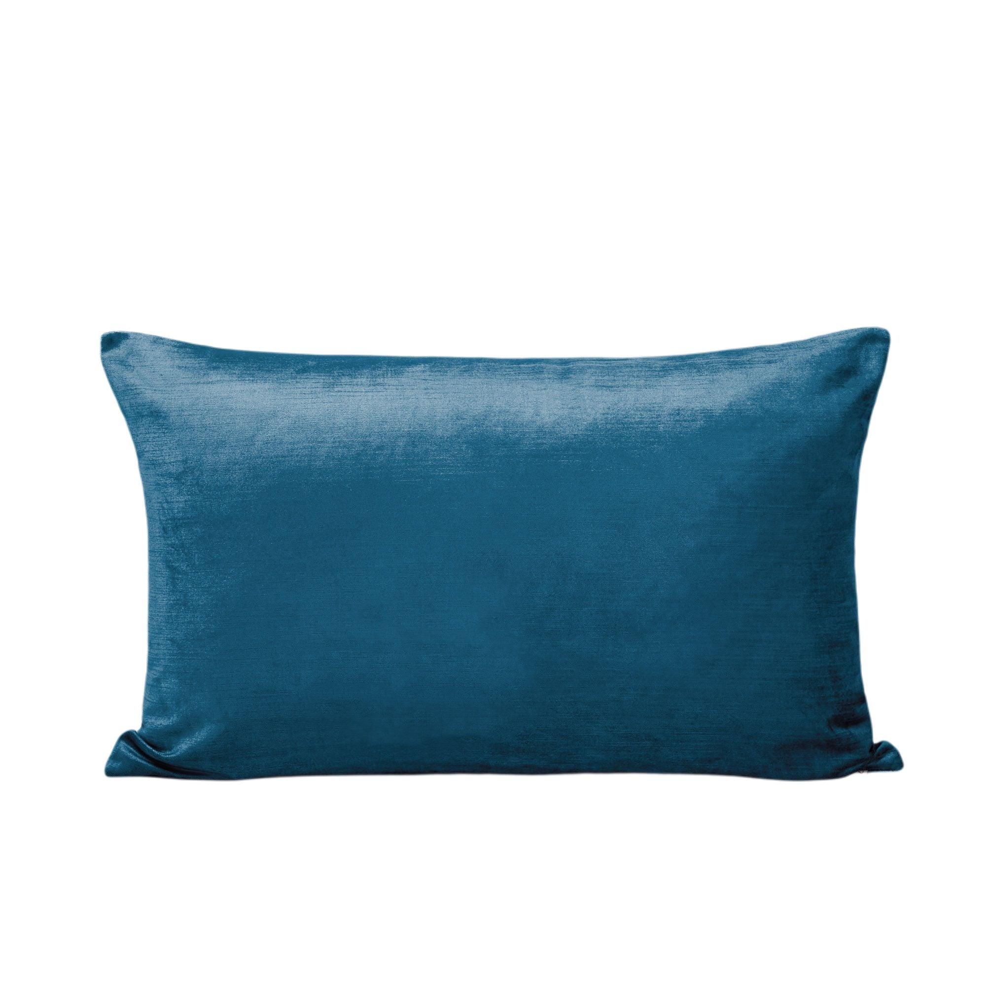 Housse de coussin 40x60 cm Bleu vert et taupe