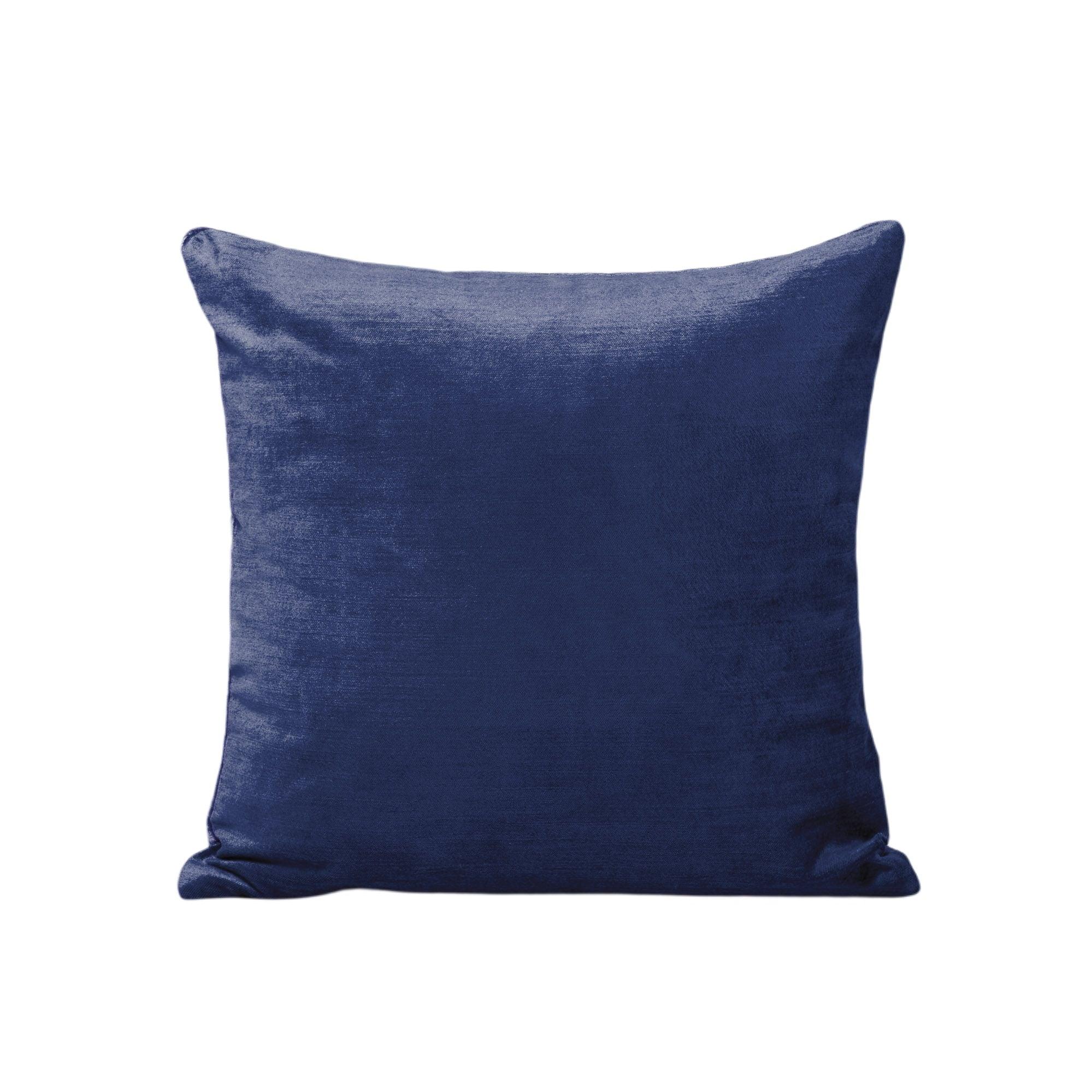 Housse de coussin 50x50 cm Bleu marine