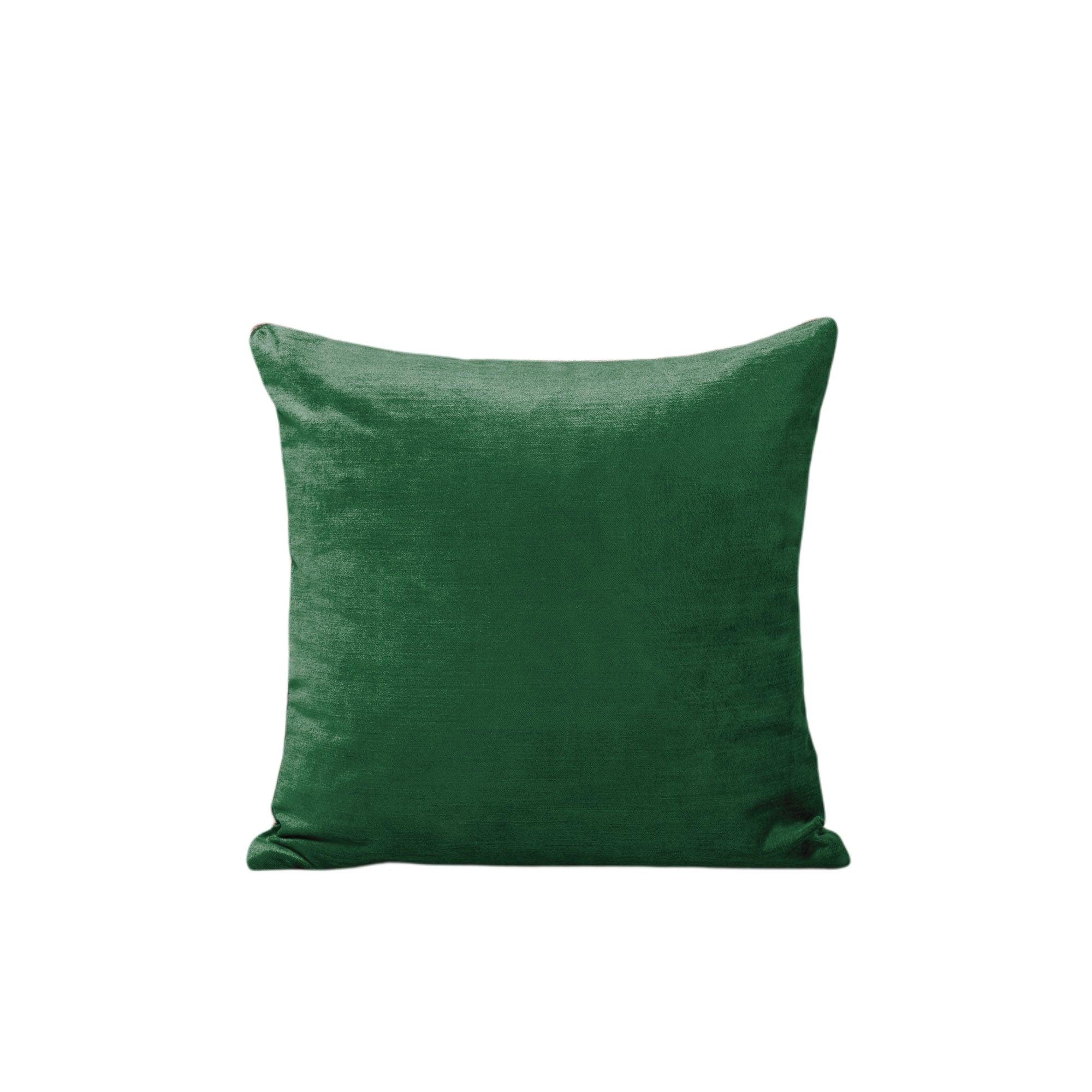 Housse de coussin 40x40 cm Vert moyen et taupe