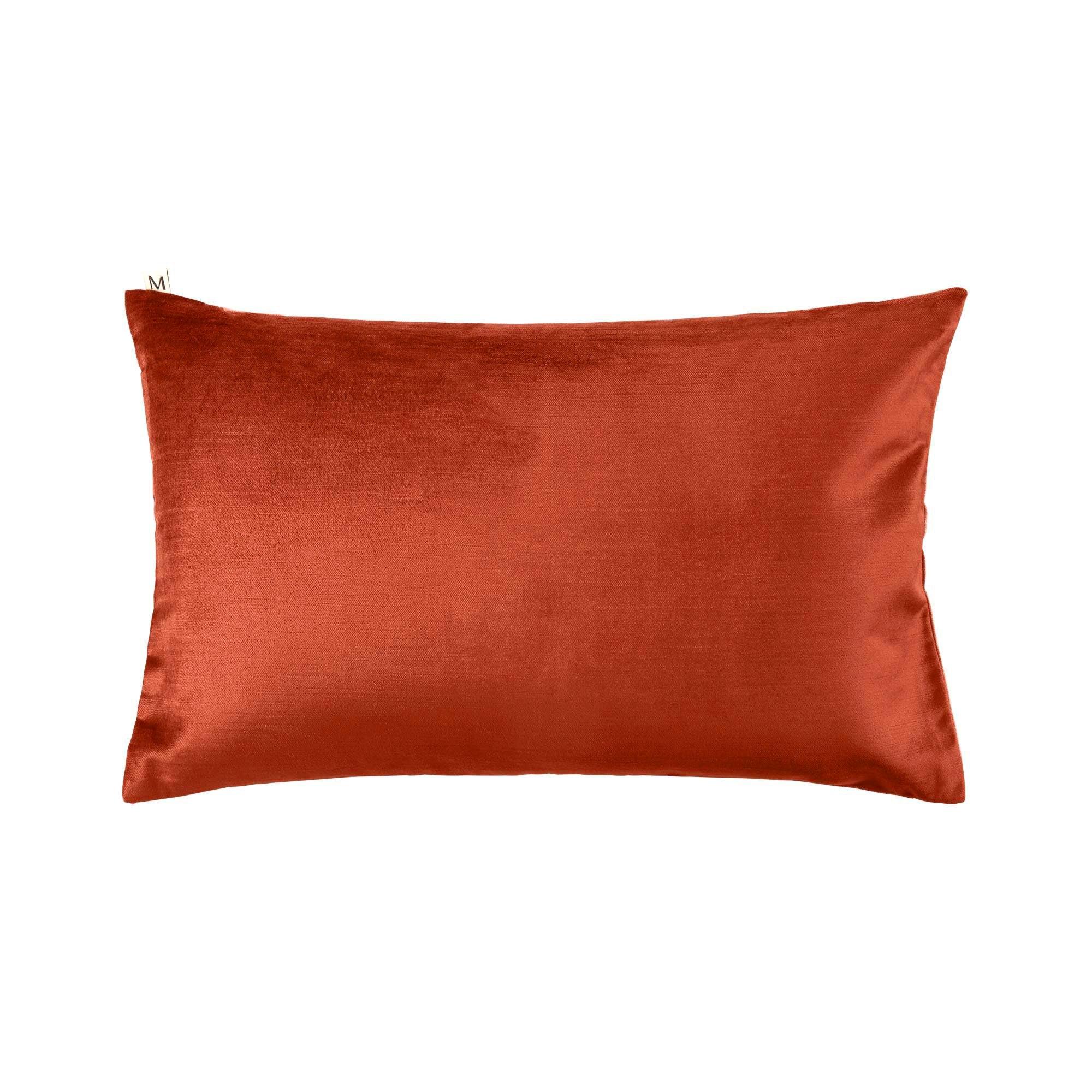 Housse de coussin 40x60 cm Orange et blanc