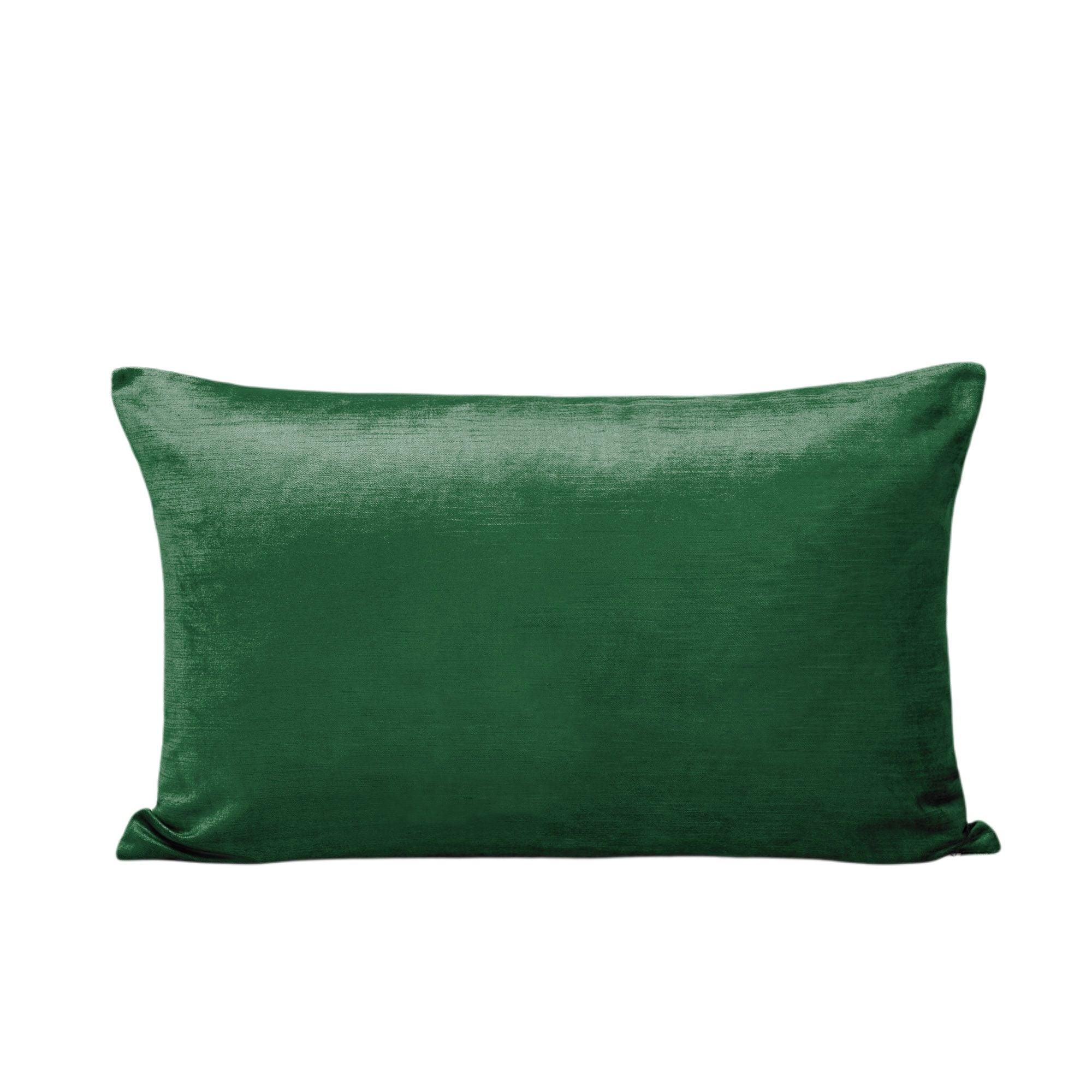 Housse de coussin 40x60 cm Vert moyen et taupe