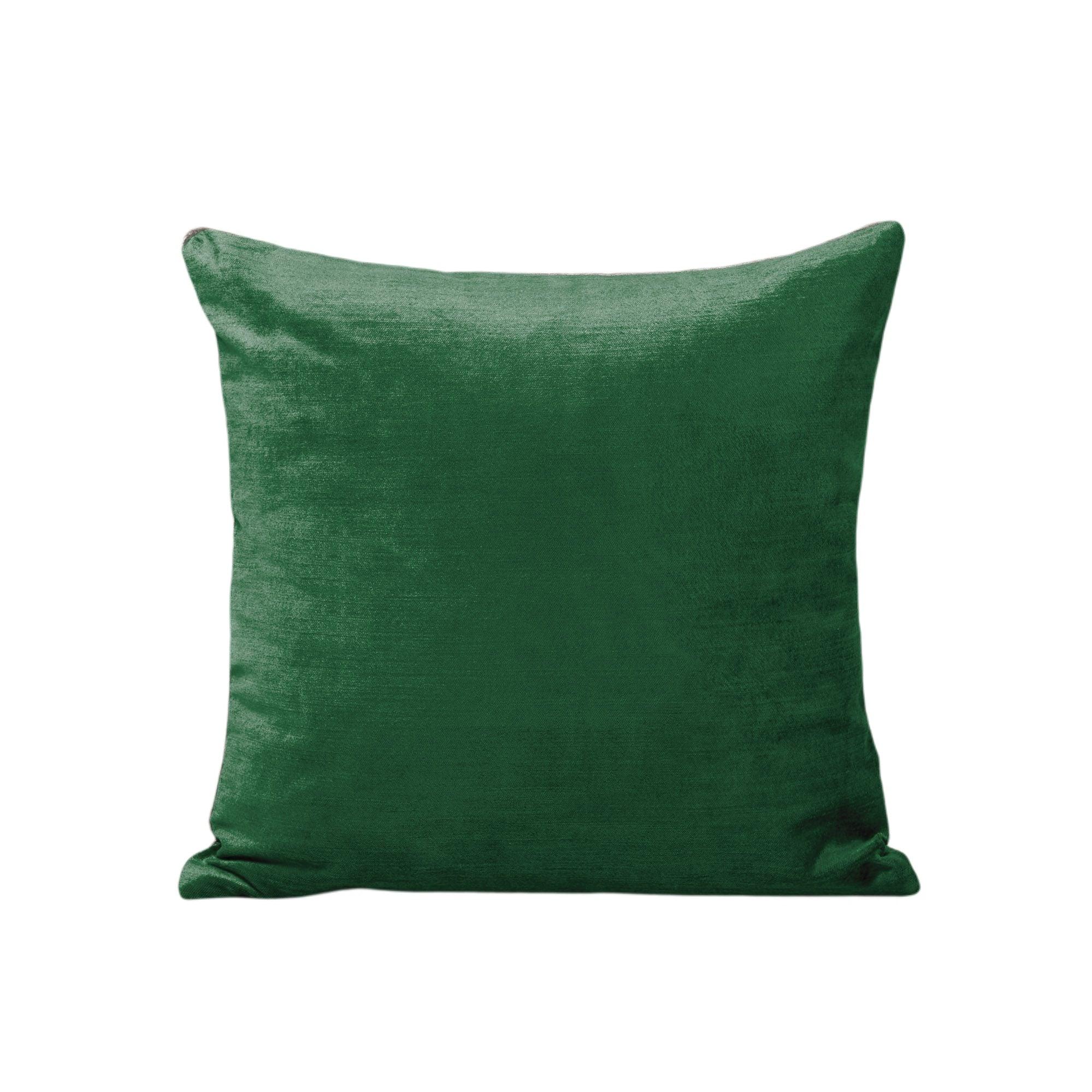 Housse de coussin 50x50 cm Vert moyen et taupe