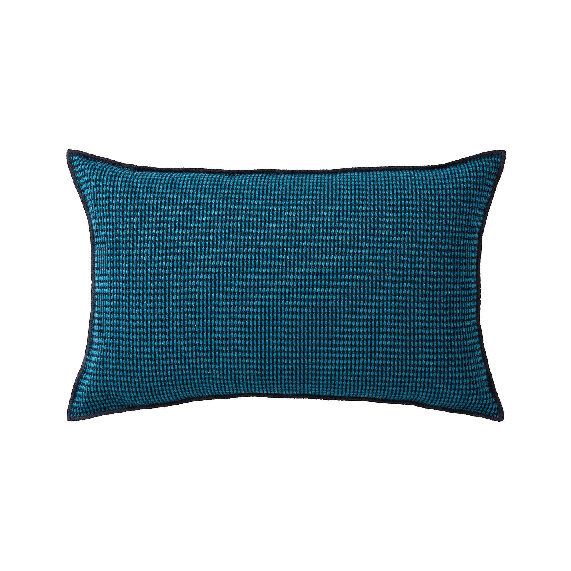 Housse de coussin 40x60 cm Noir et bleu canard