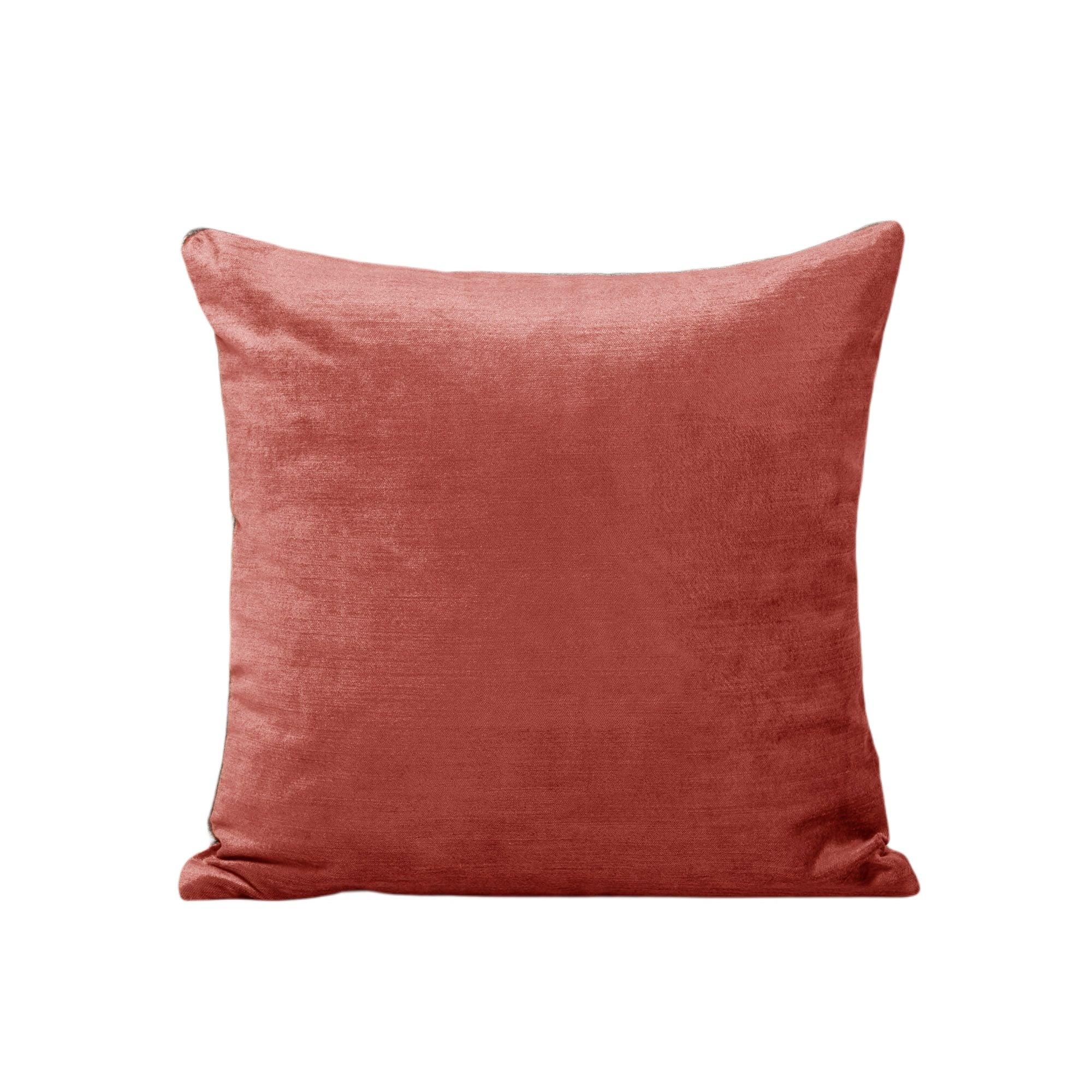 Housse de coussin 50x50 cm Rose orangé