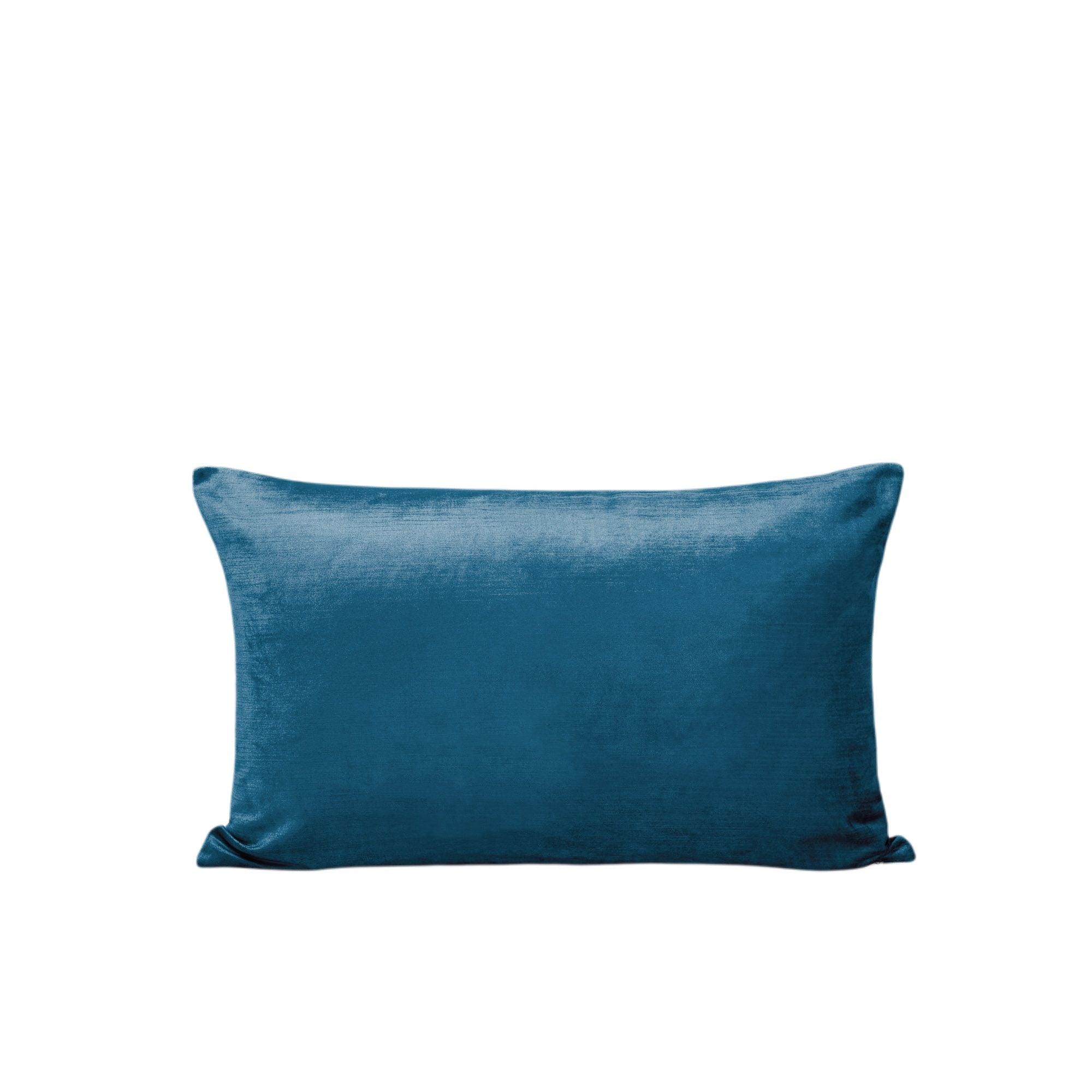 Housse de coussin 28x47 cm Bleu vert et taupe