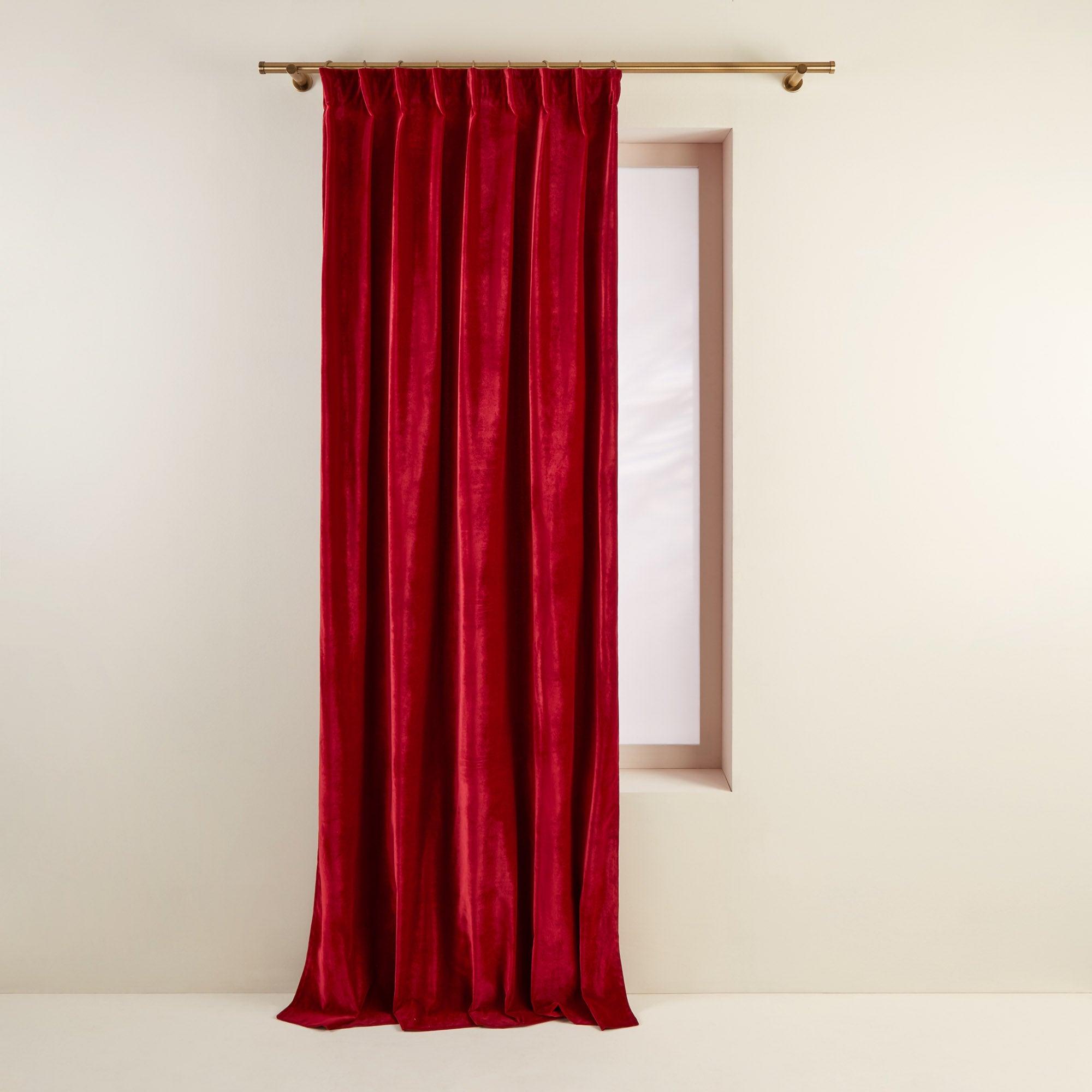 Rideau à ruban fronceur DARIO 134x280 cm Rouge